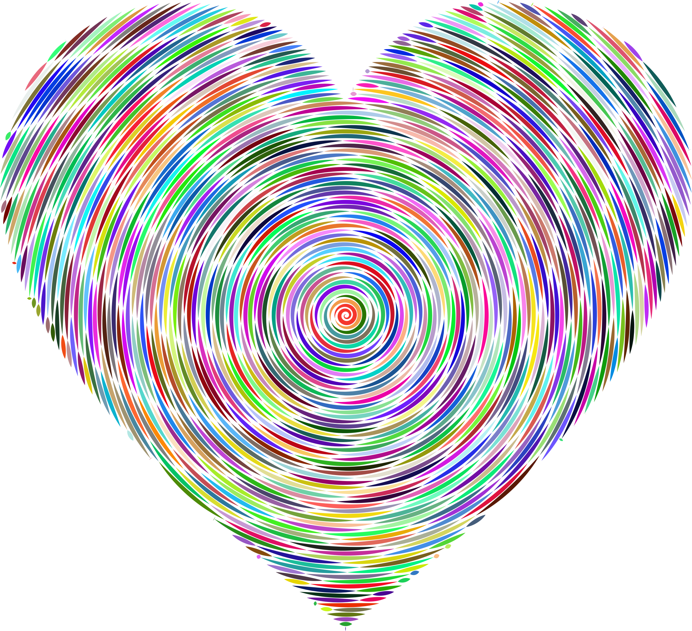 Psychedelic Concentric Heart 2 by GDJ
