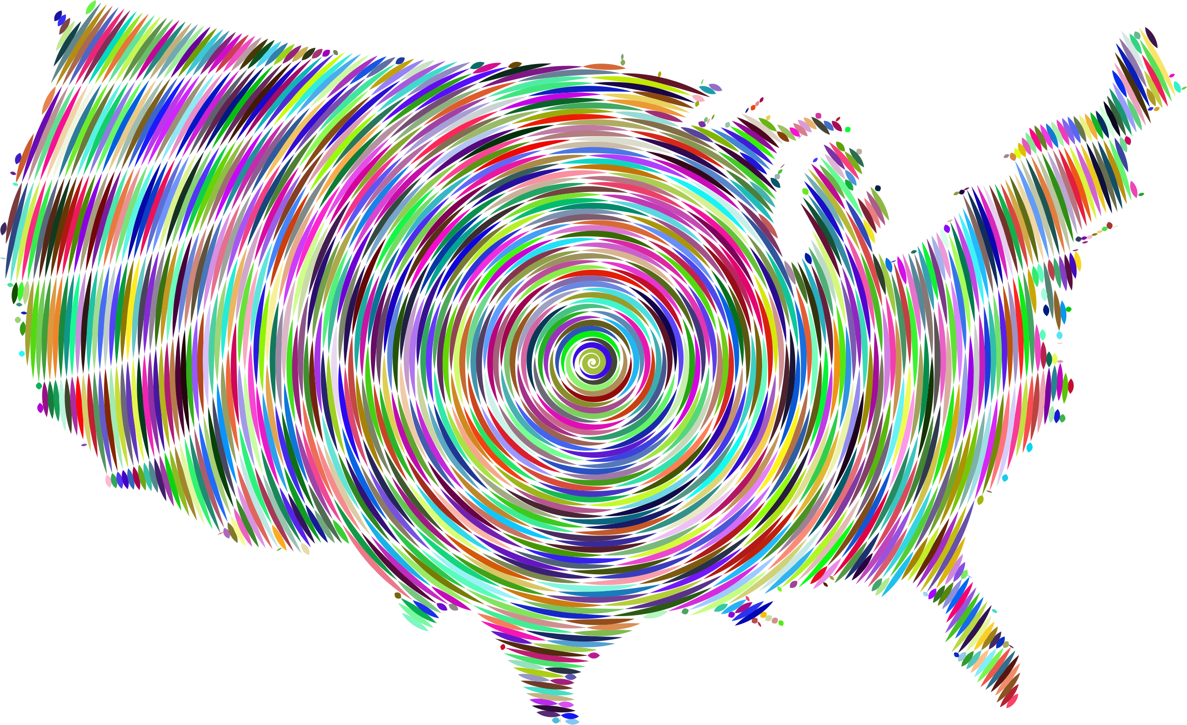 Prismatic United States Map Concentric by GDJ