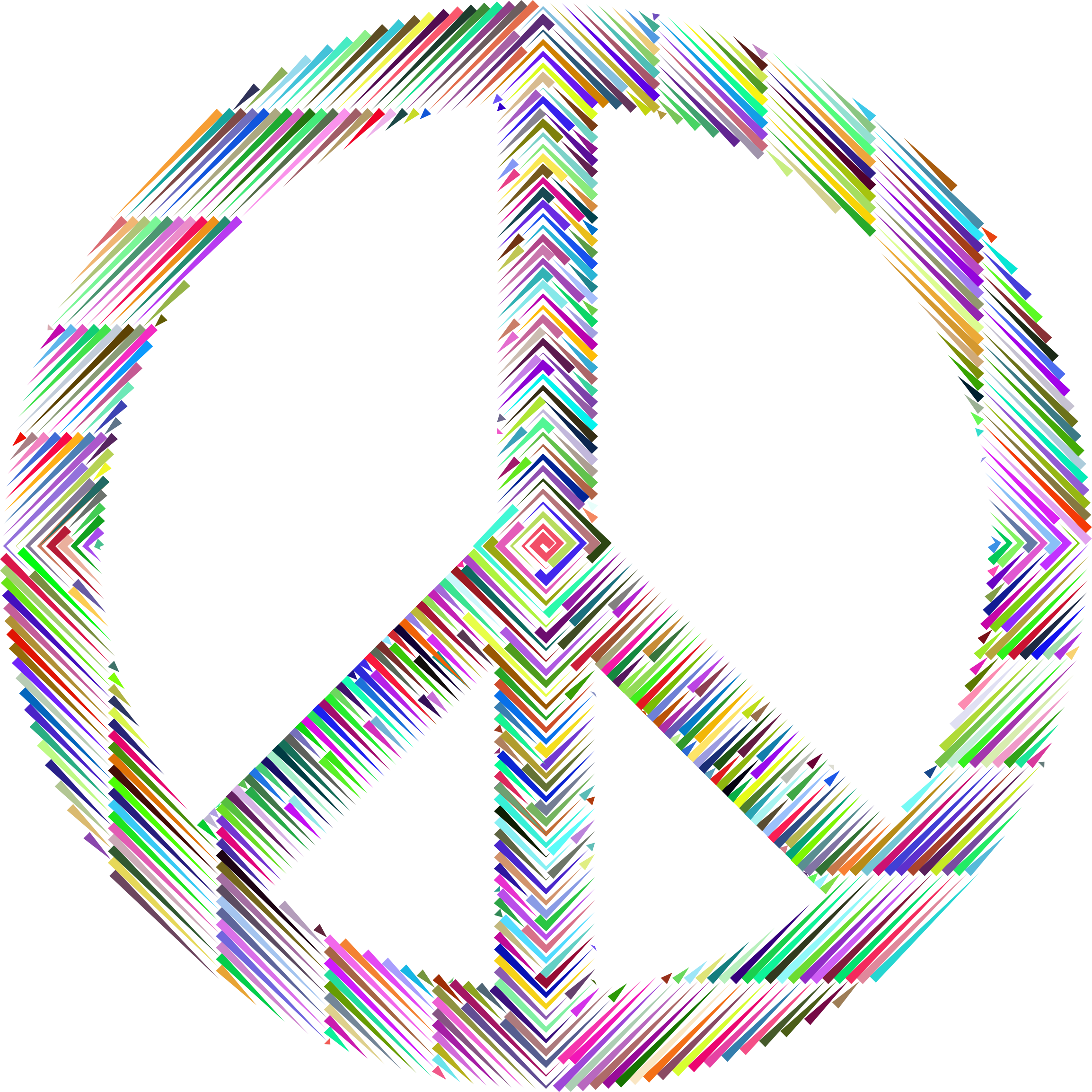 Prismatic Peace Sign Concentric by GDJ