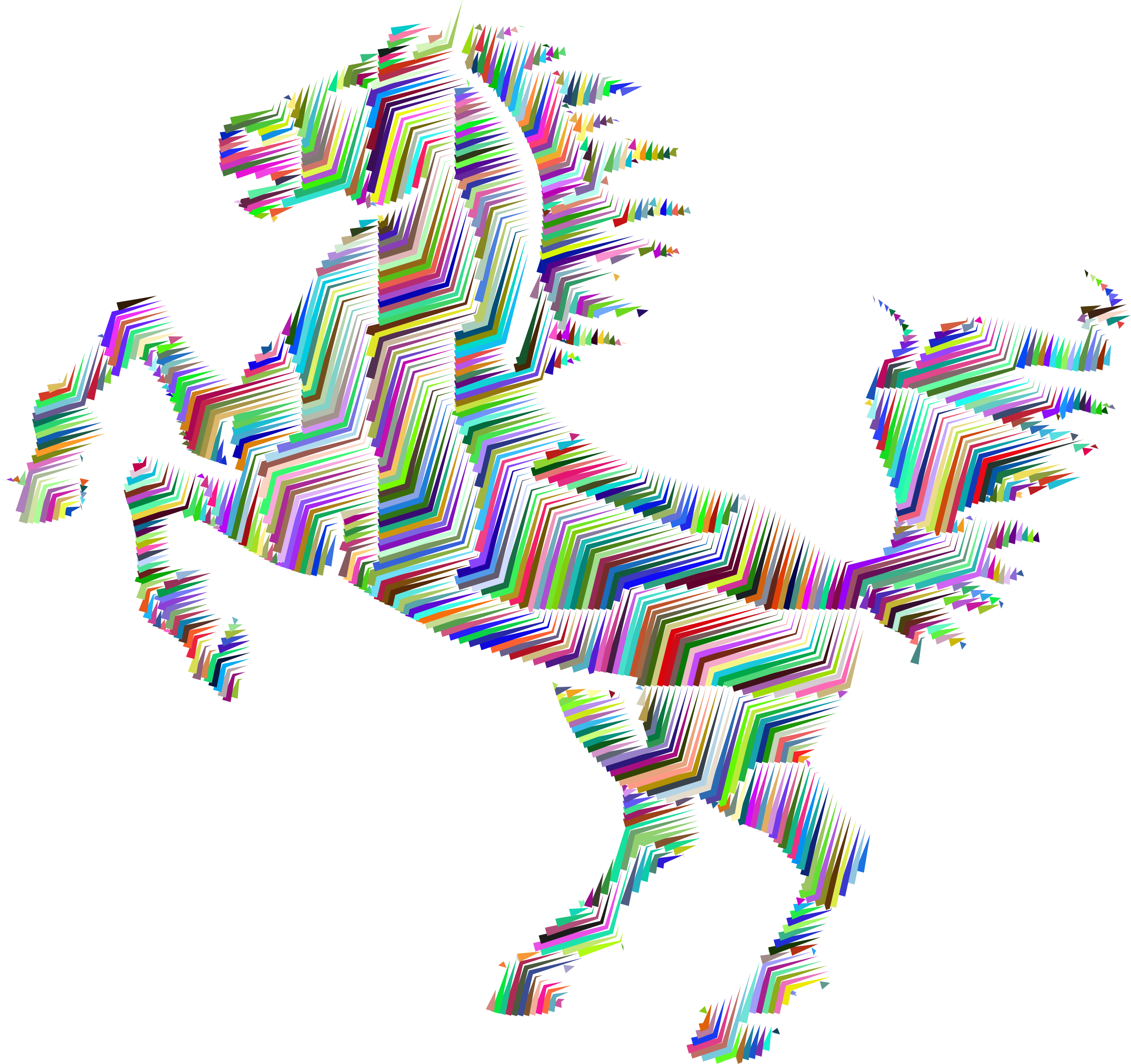 Prismatic Horse Silhouette Abstract Line Art by GDJ