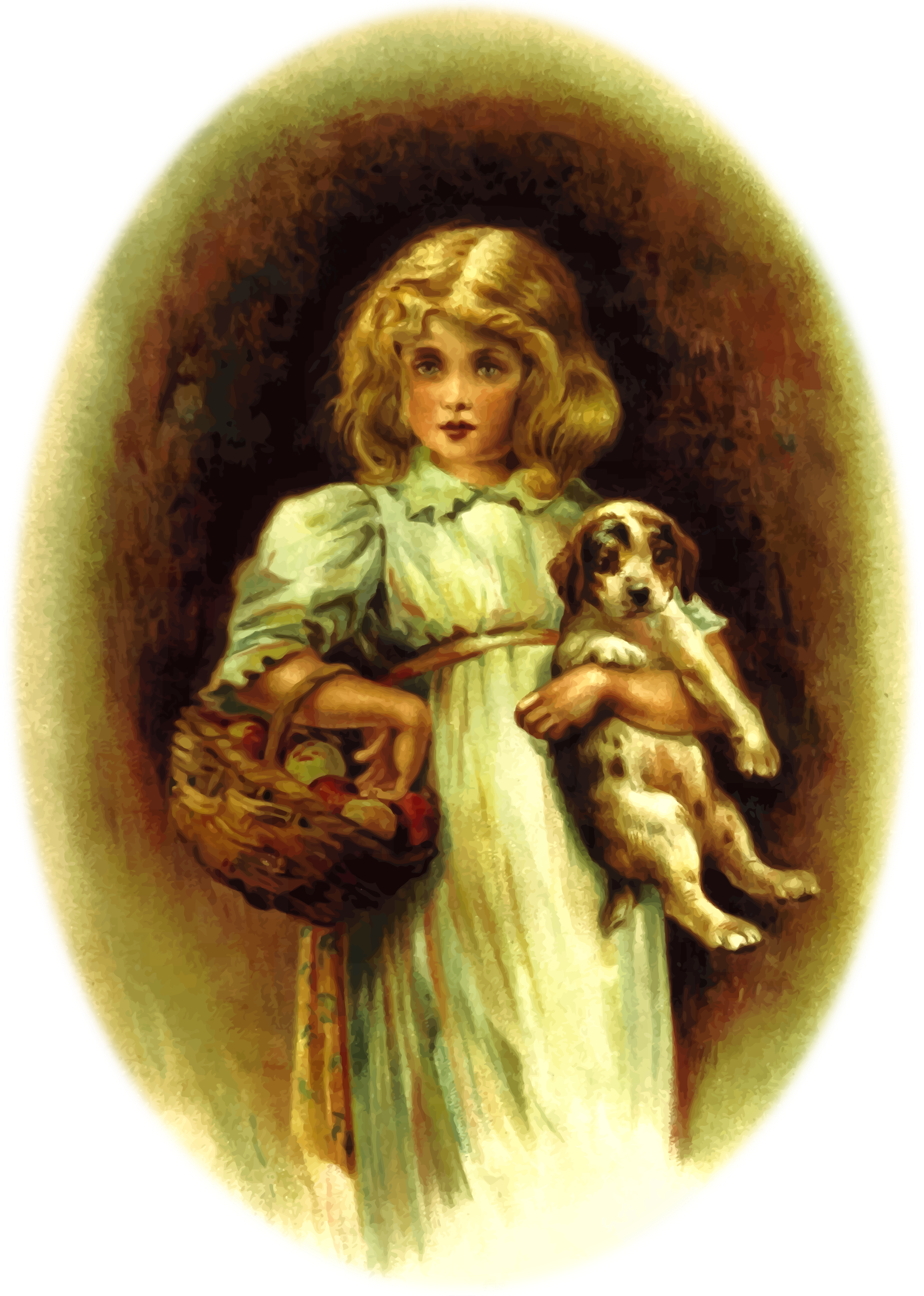 Girl with dog by Firkin