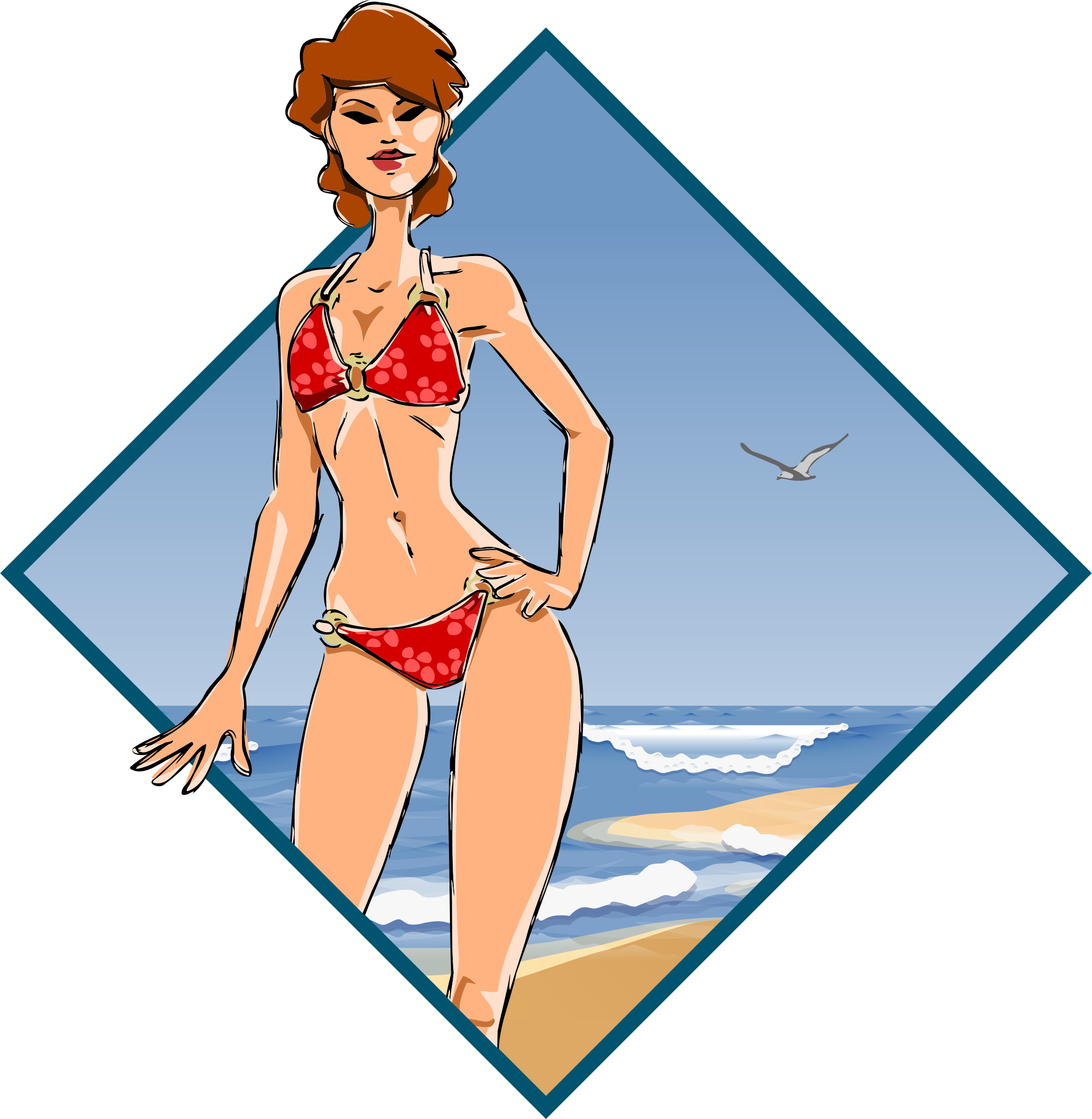 Girl at the beach by Firkin