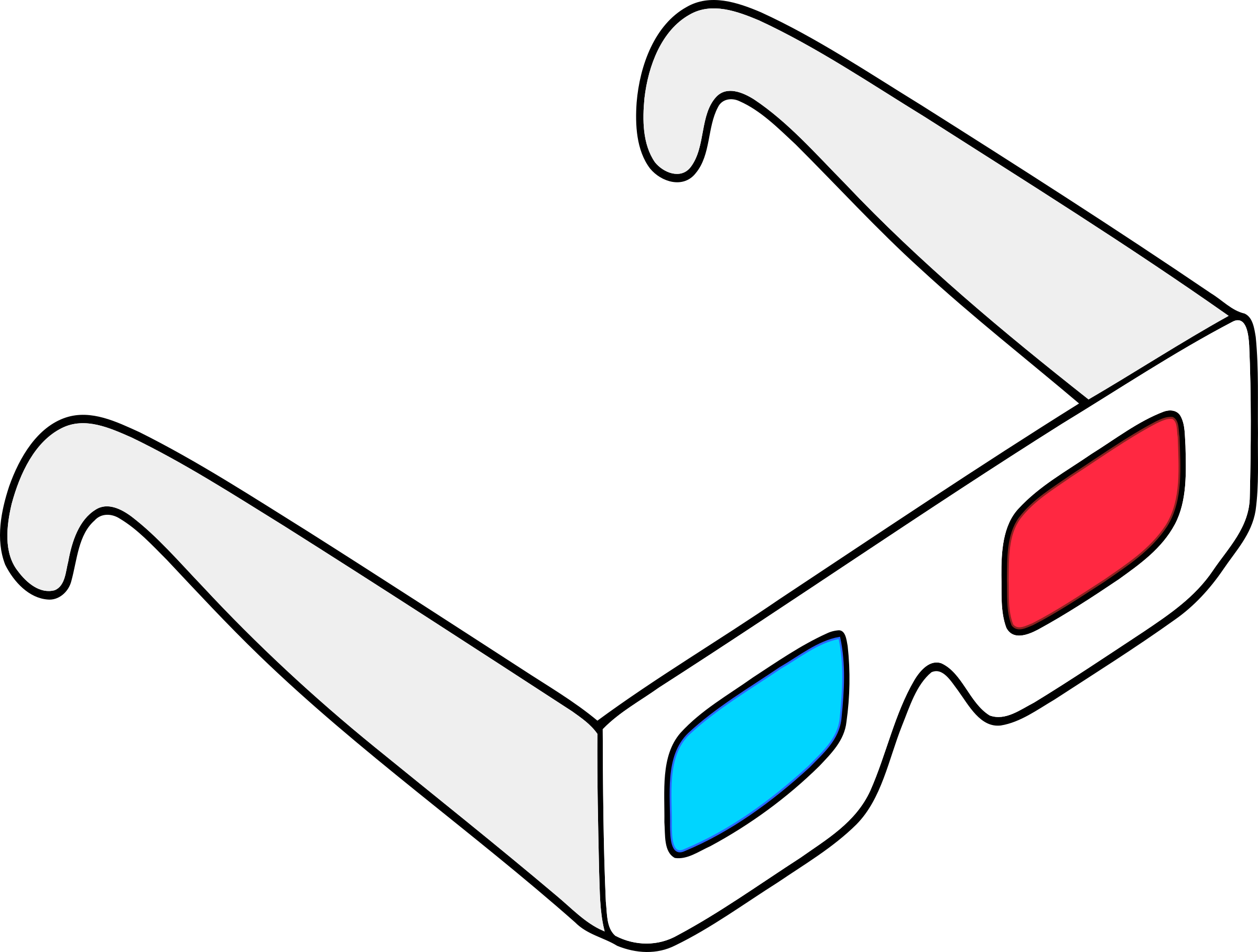 Anaglyph Glasses by j4p4n