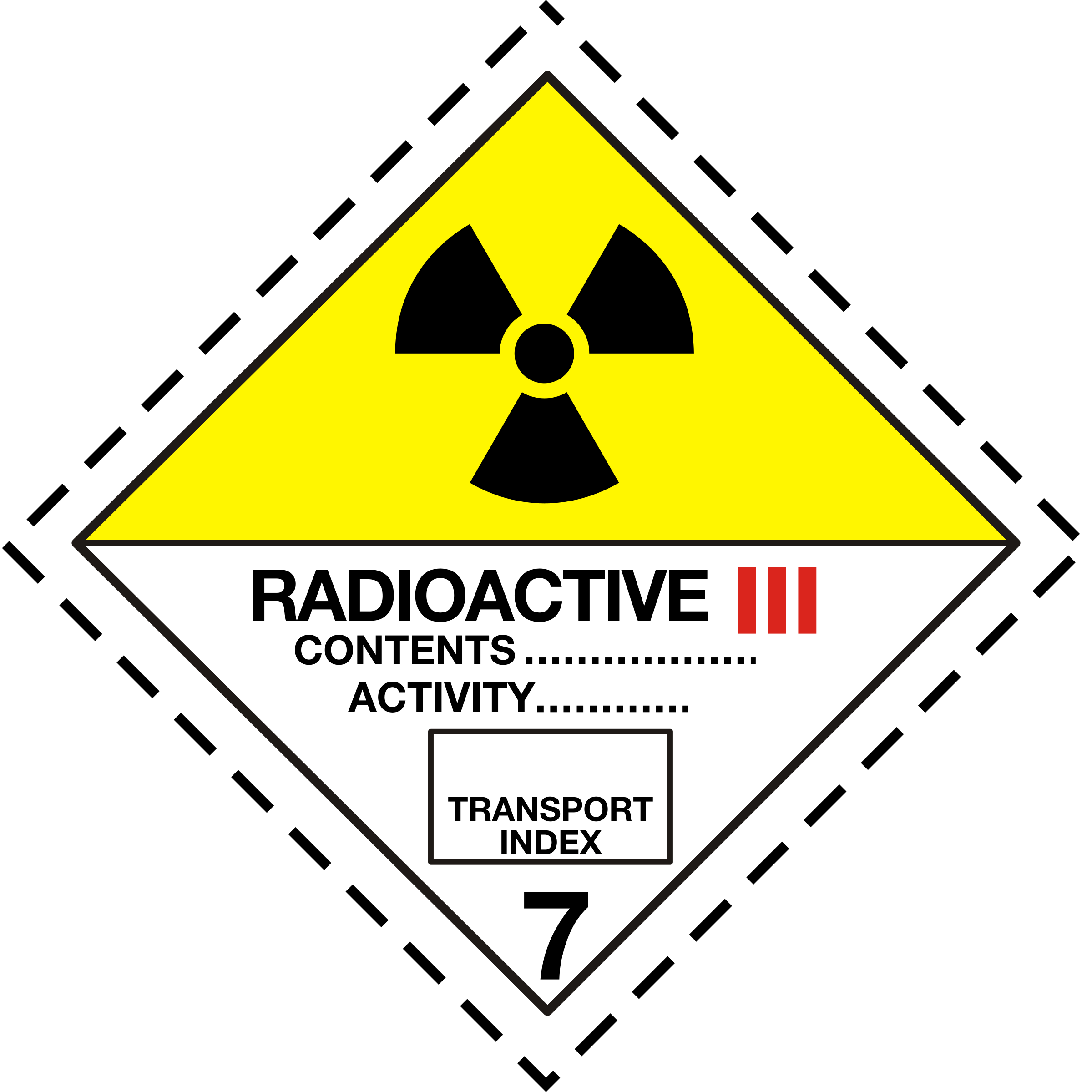 ADR pictogram 7c-Radioactive by Juhele