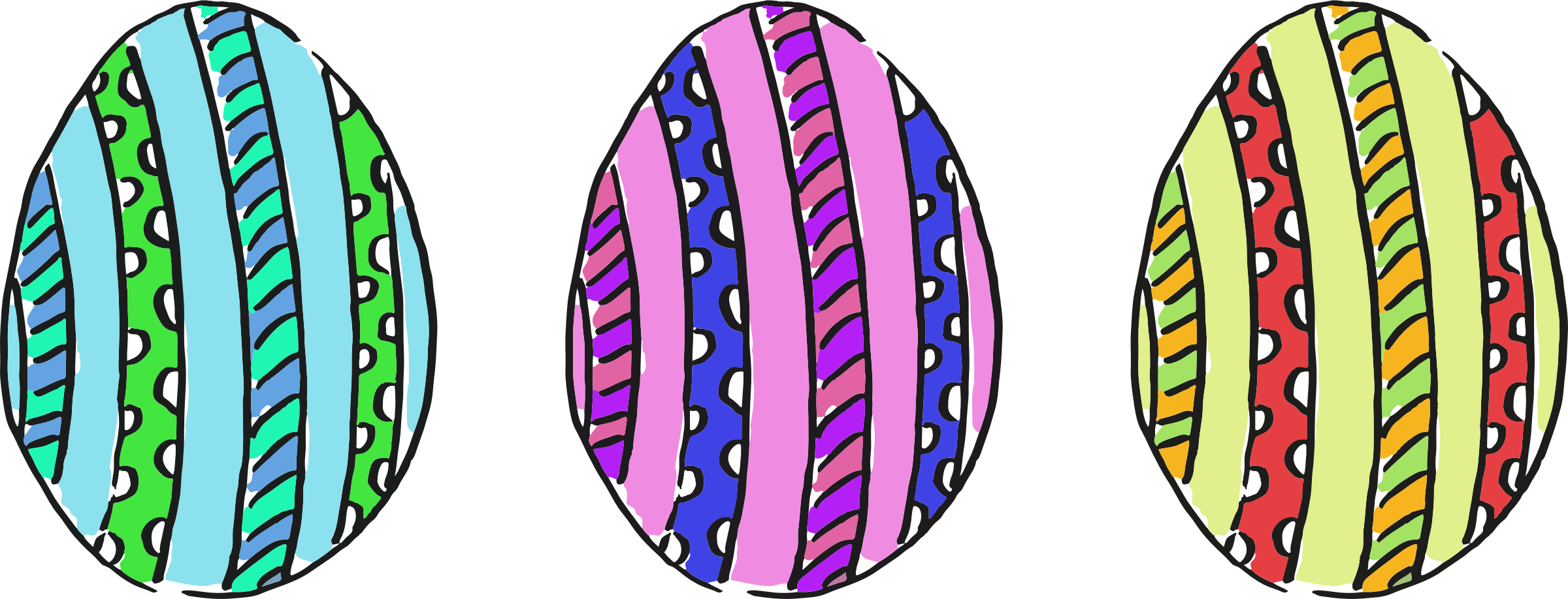 Easter eggs 9 by Firkin