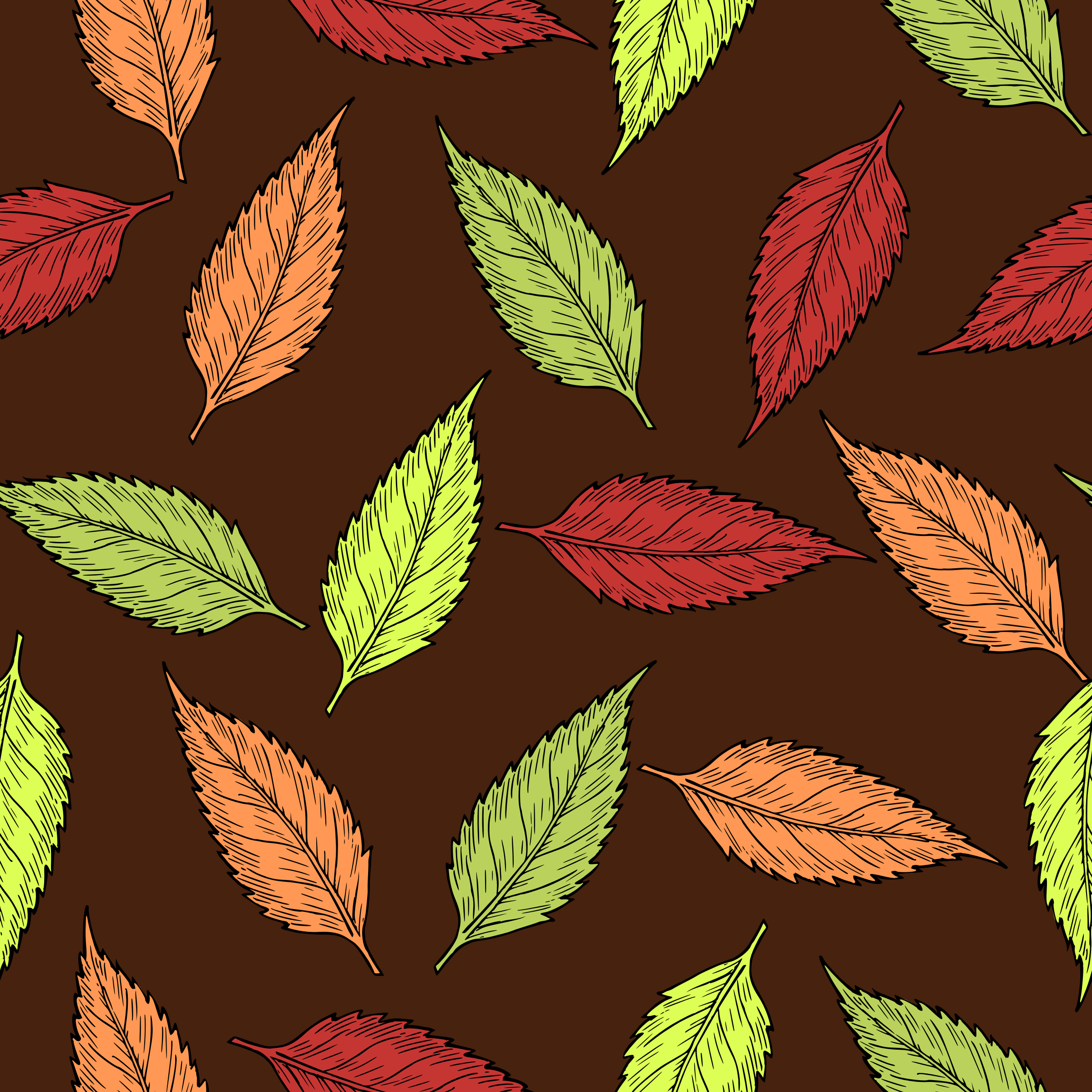 Autumn leaves pattern by Firkin