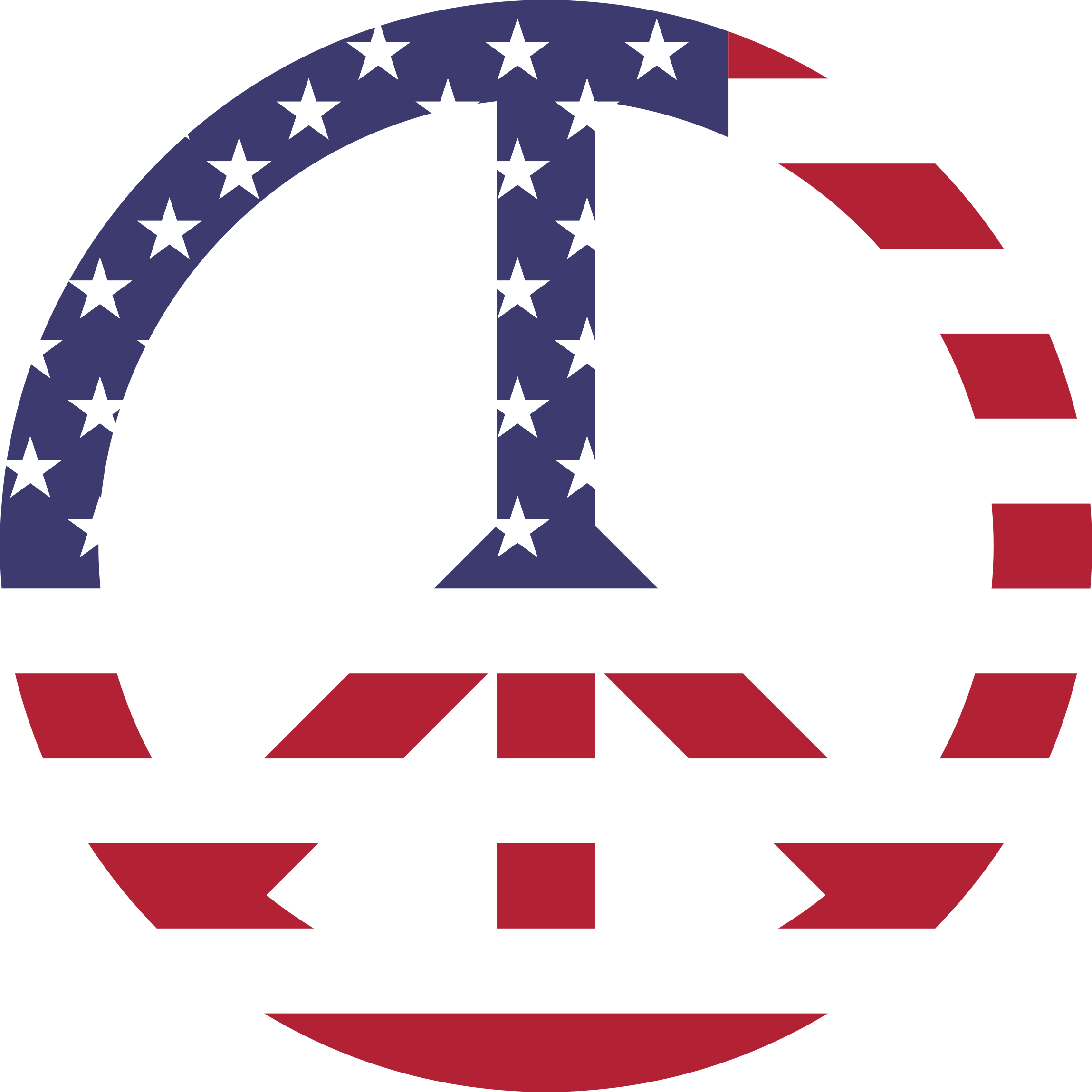 American Flag Peace Sign by GDJ