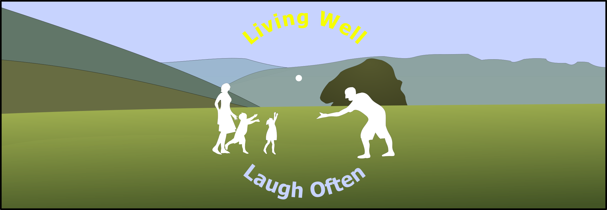 Living Well Laugh Often Header by pjsvbfcm