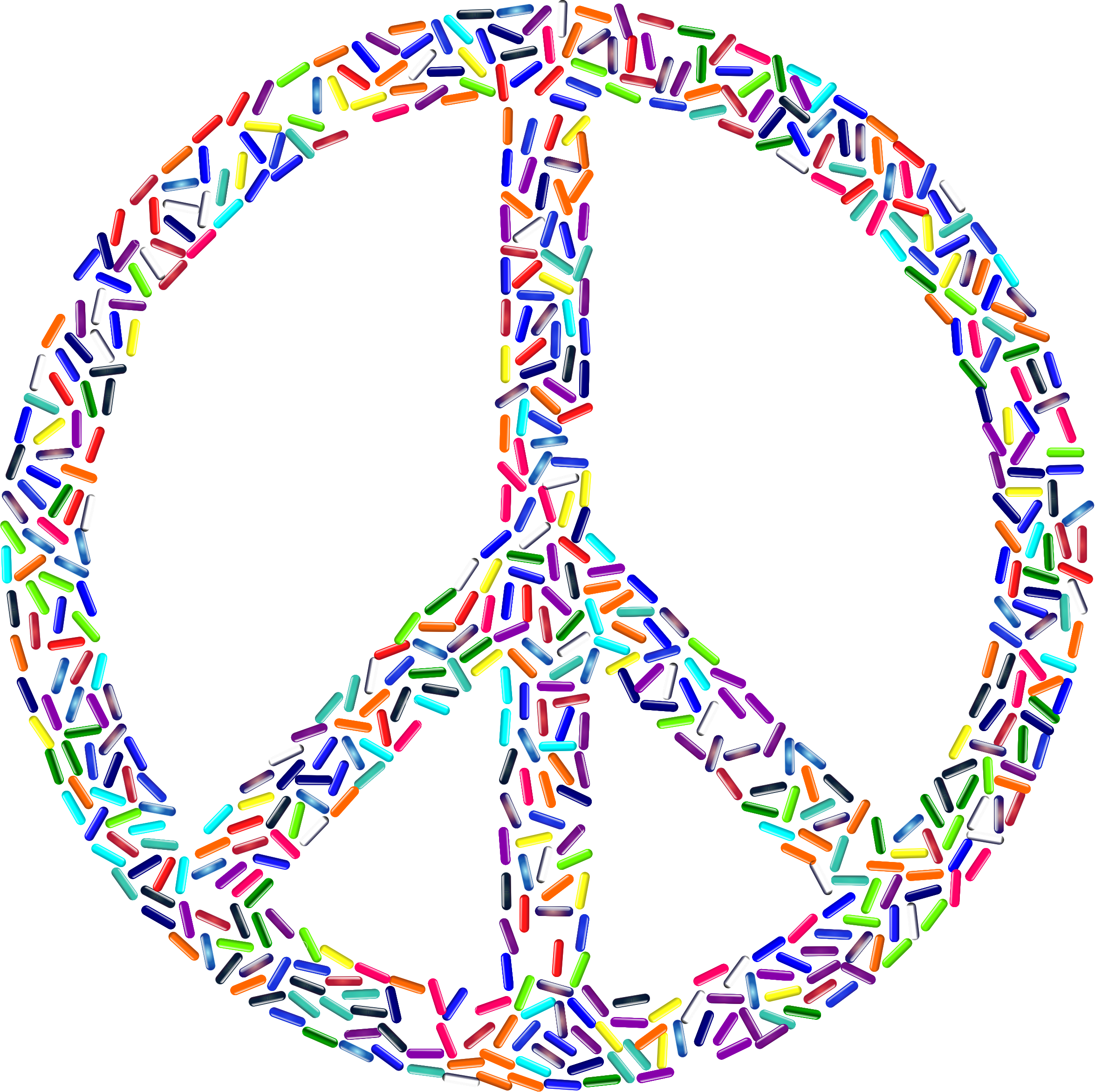 Peace Sign Buttons by GDJ