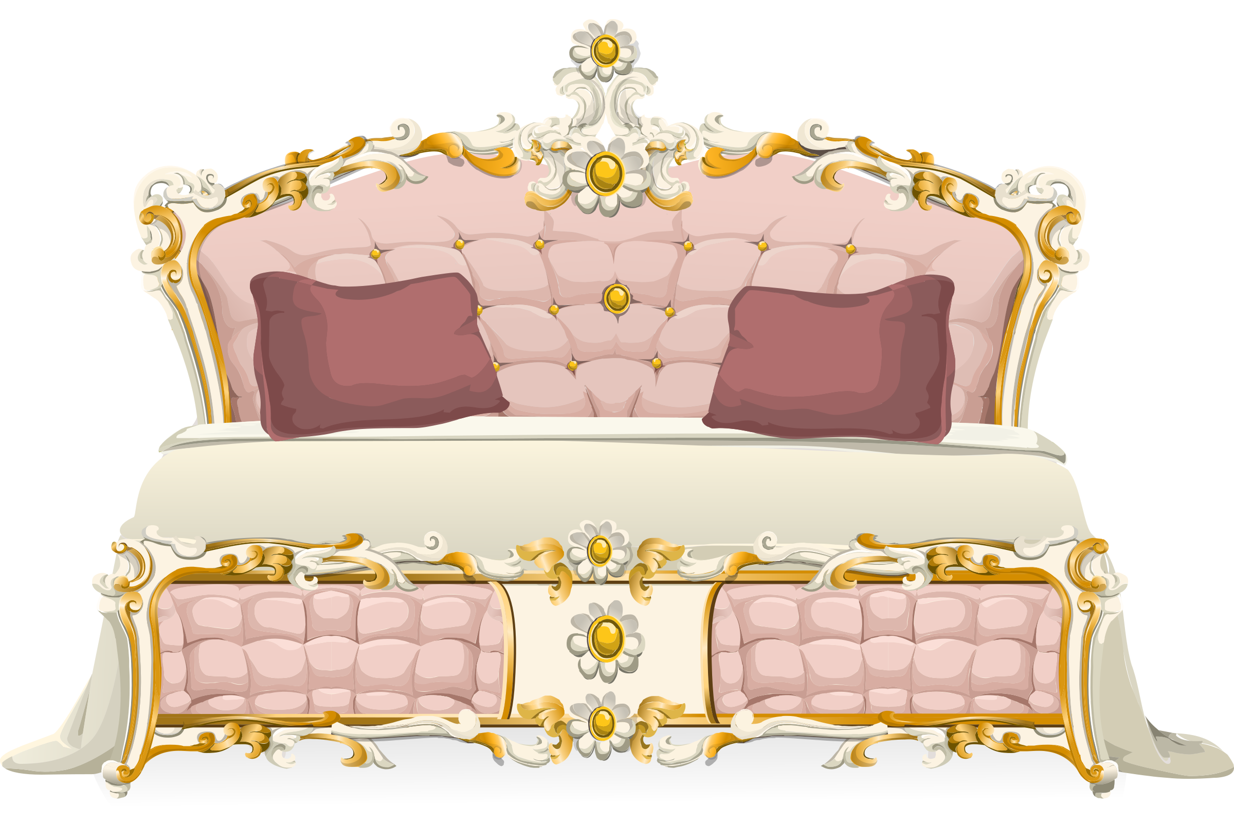 Pink baroque bed from Glitch  by anarres