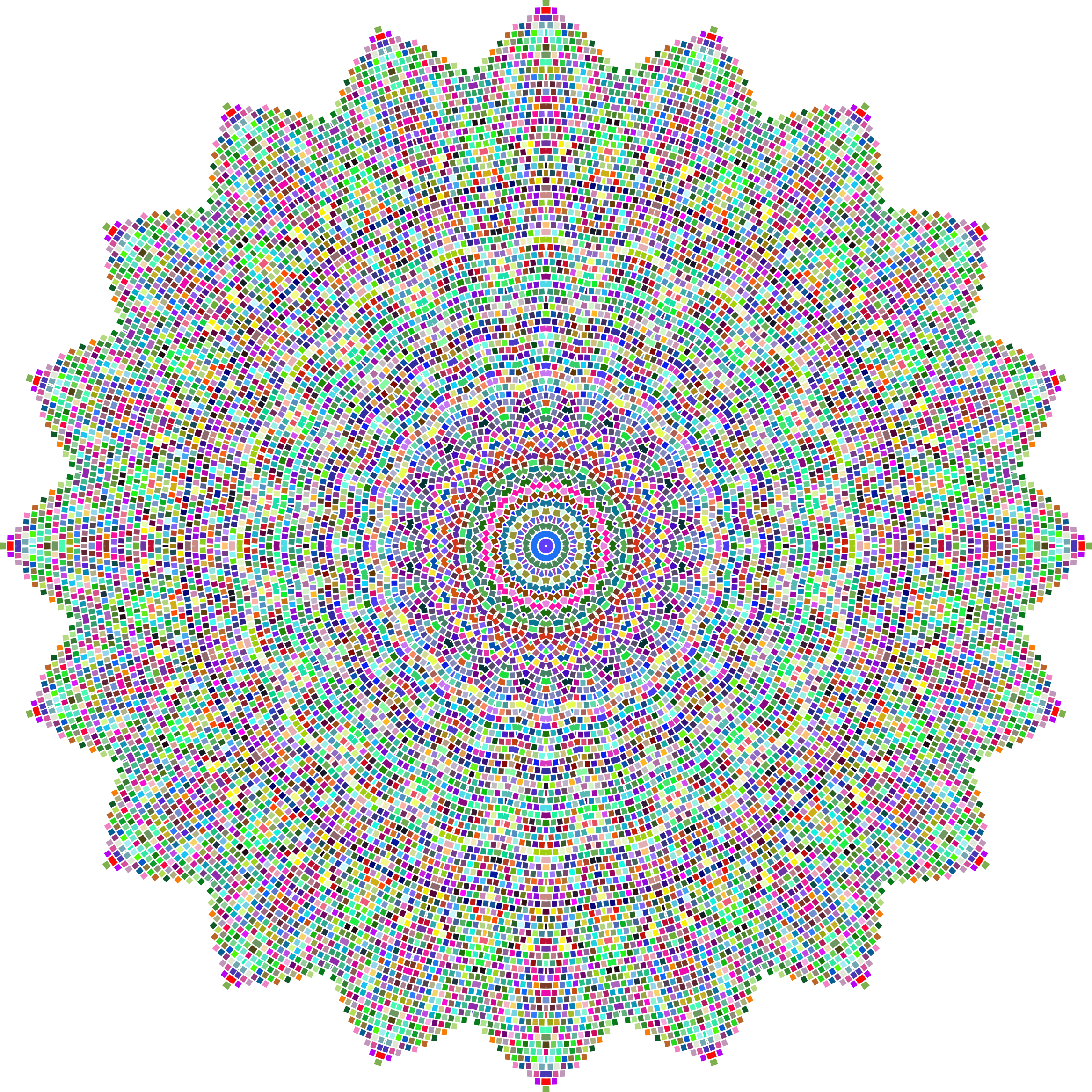 Prismatic Tiles Geometric Mandala II No Background by GDJ