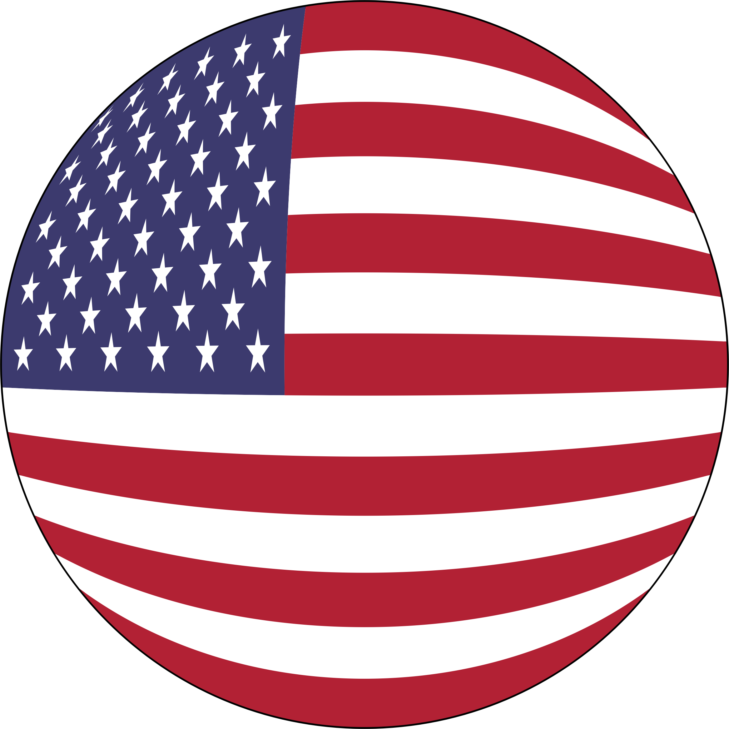 American Flag Orb With Stroke by GDJ