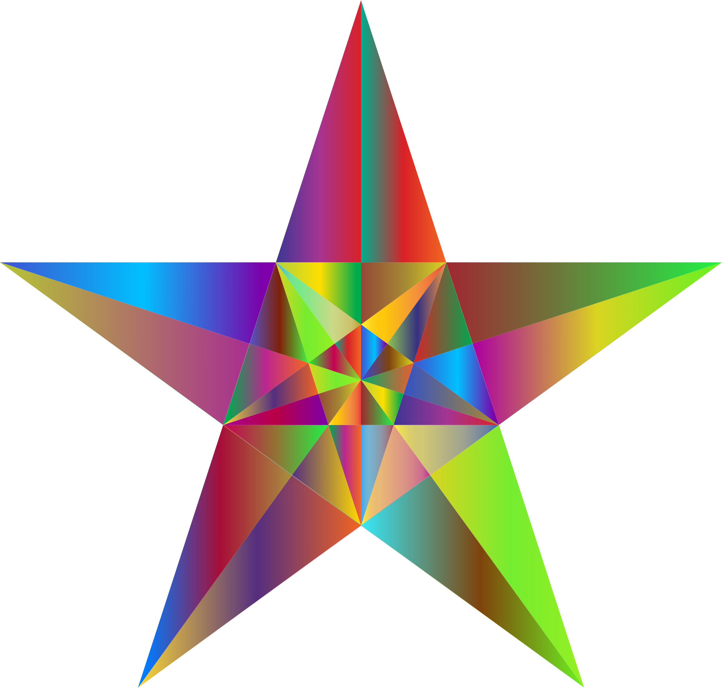 Prismatic Geometric Star by GDJ