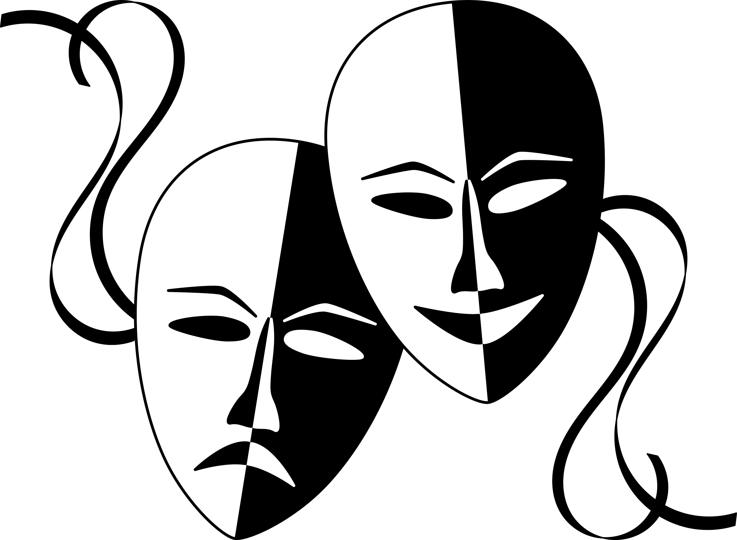 Theatre Masks by wasat