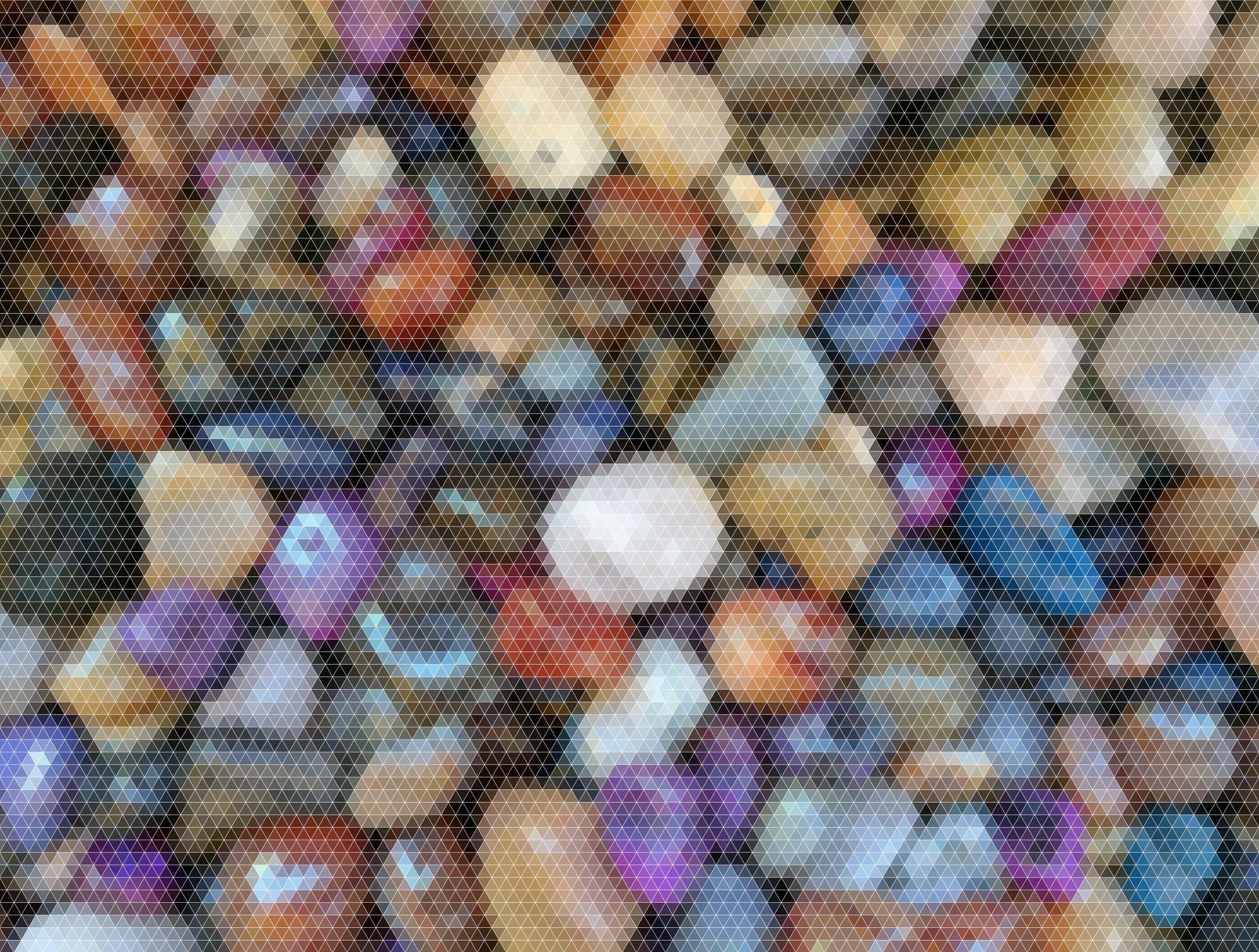 Prismatic Stones Triangular Mosaic by GDJ