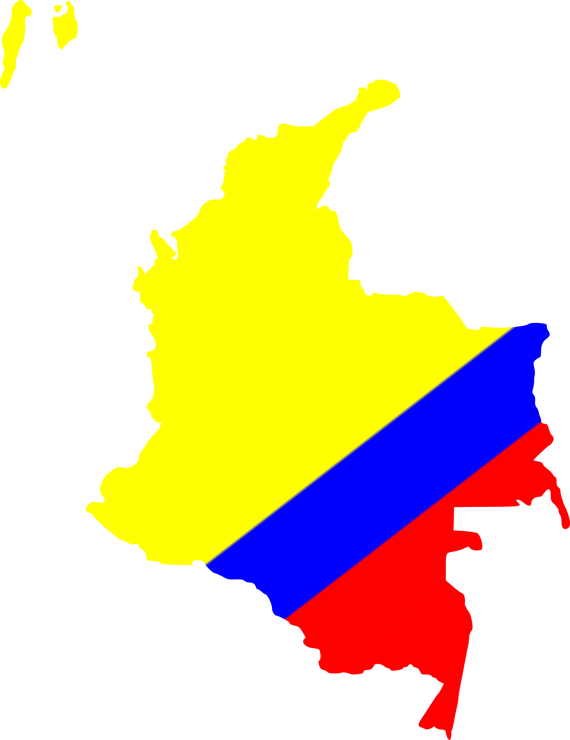 Map of Colombia by egonpin