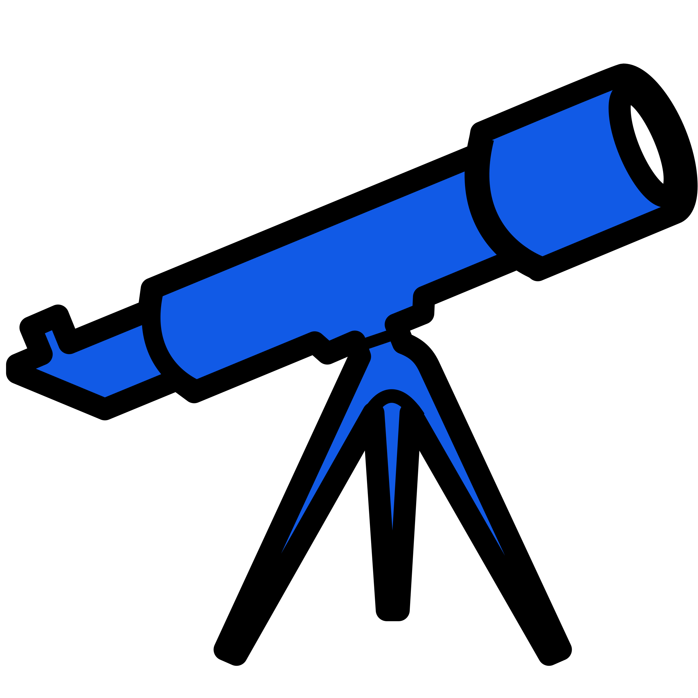 Telescope - blue by Technaturally