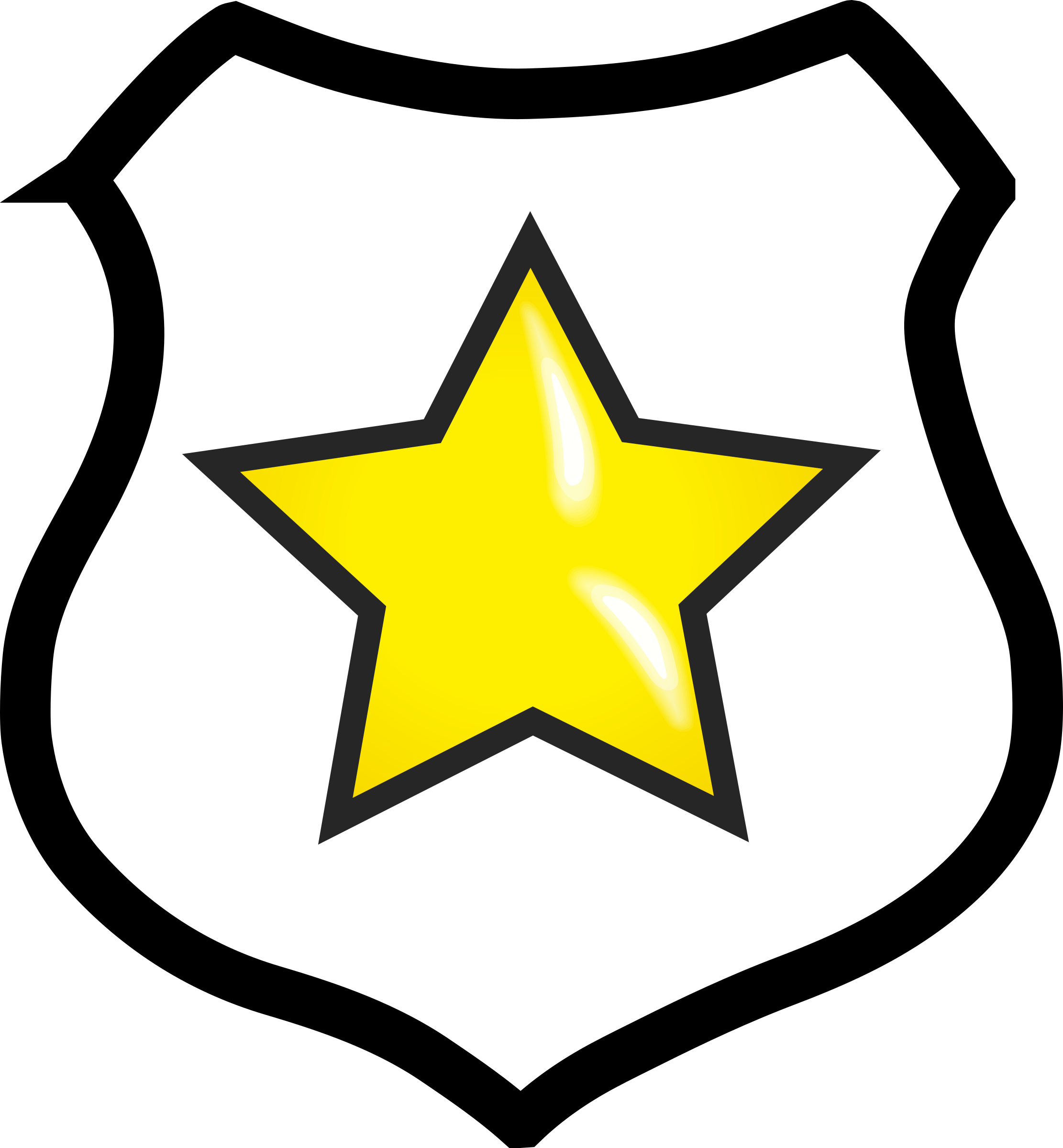 Shield with Star by Technaturally