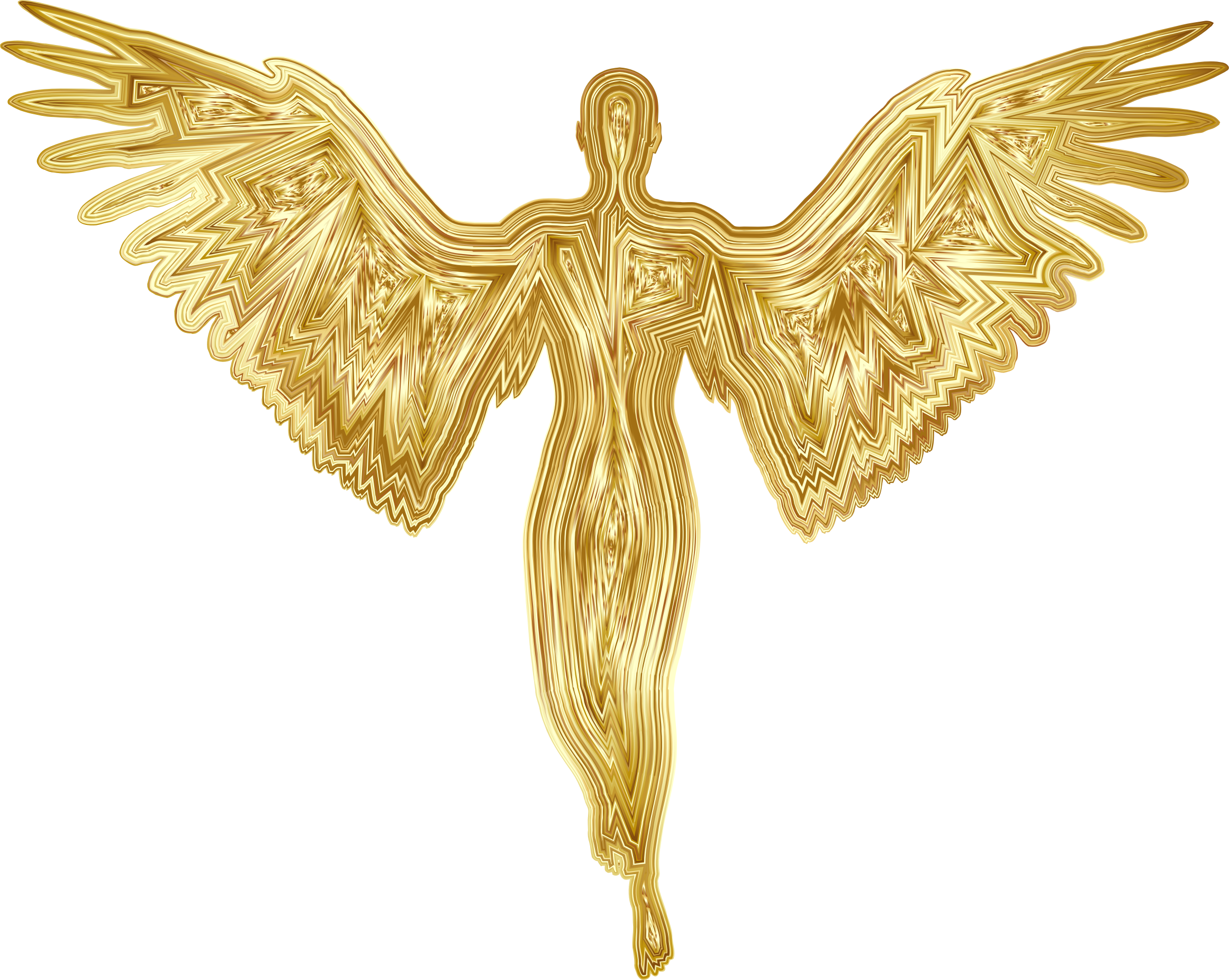 Angel Silhouette Gold by GDJ