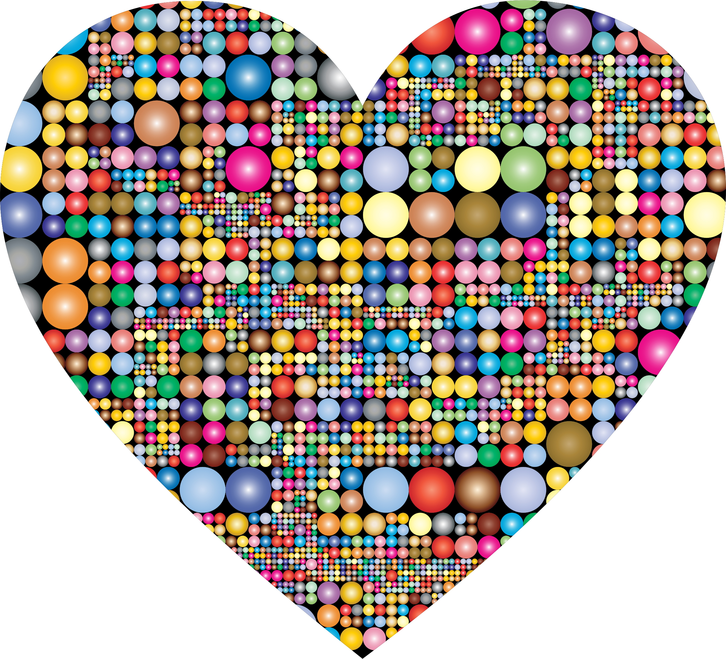 Prismatic Circles Heart by GDJ