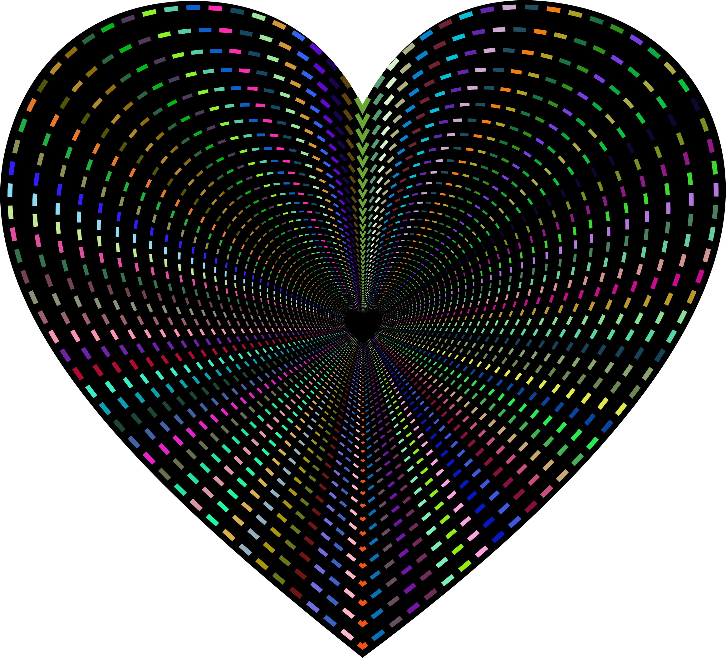 Dashed Line Art Heart Tunnel by GDJ
