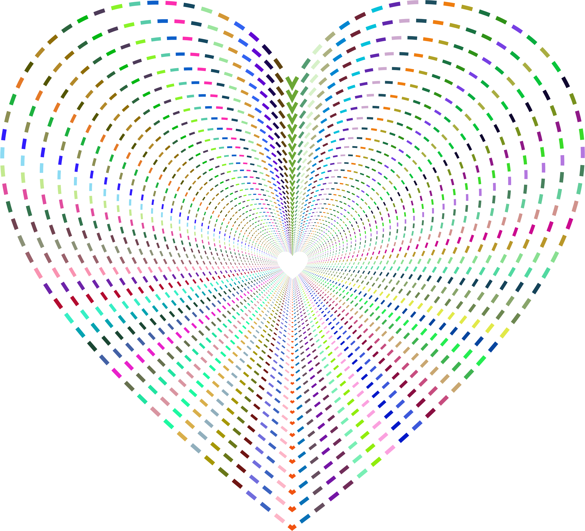 Dashed Line Art Heart Tunnel No Background by GDJ