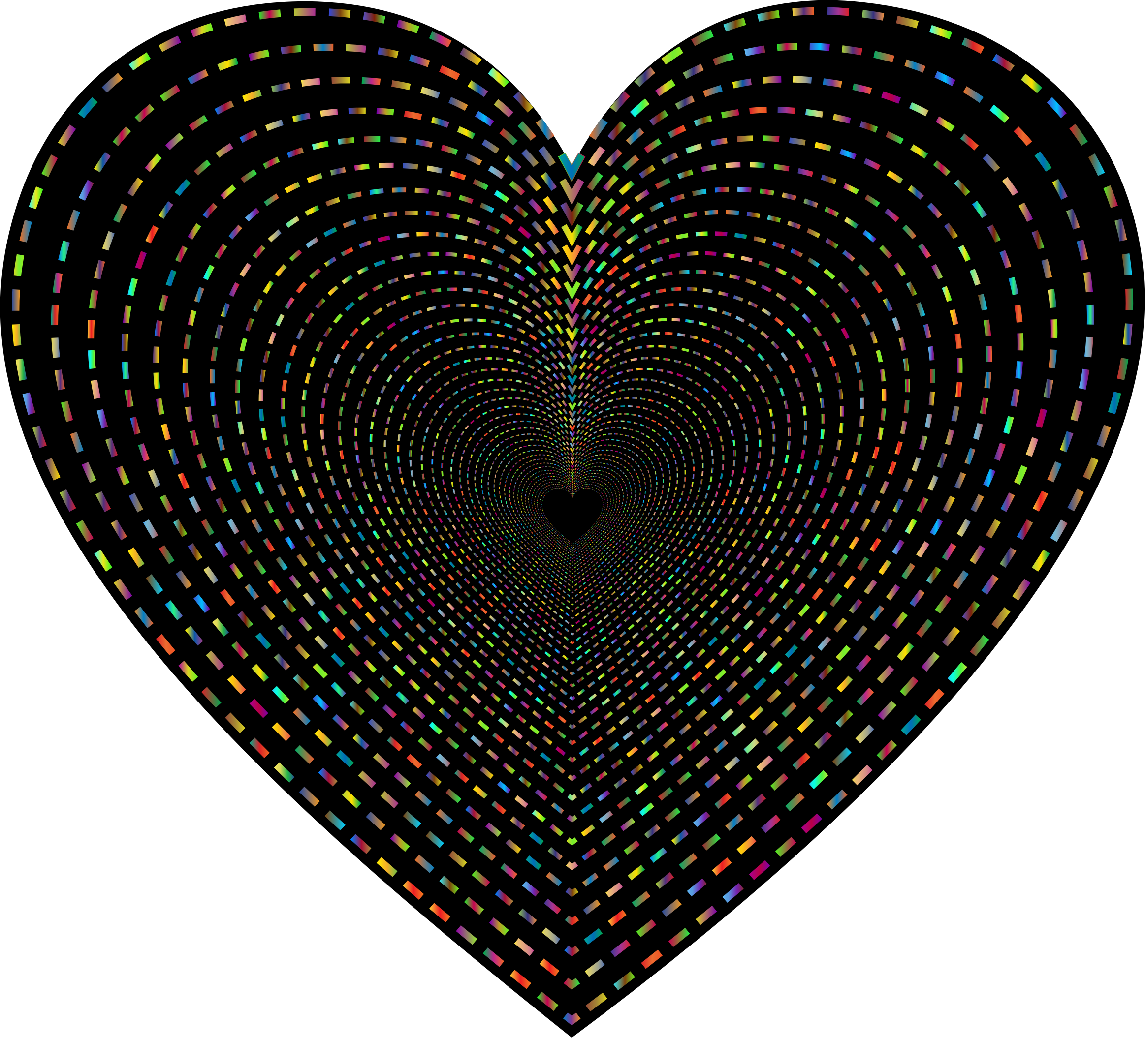 Dashed Line Art Heart Tunnel 2 by GDJ