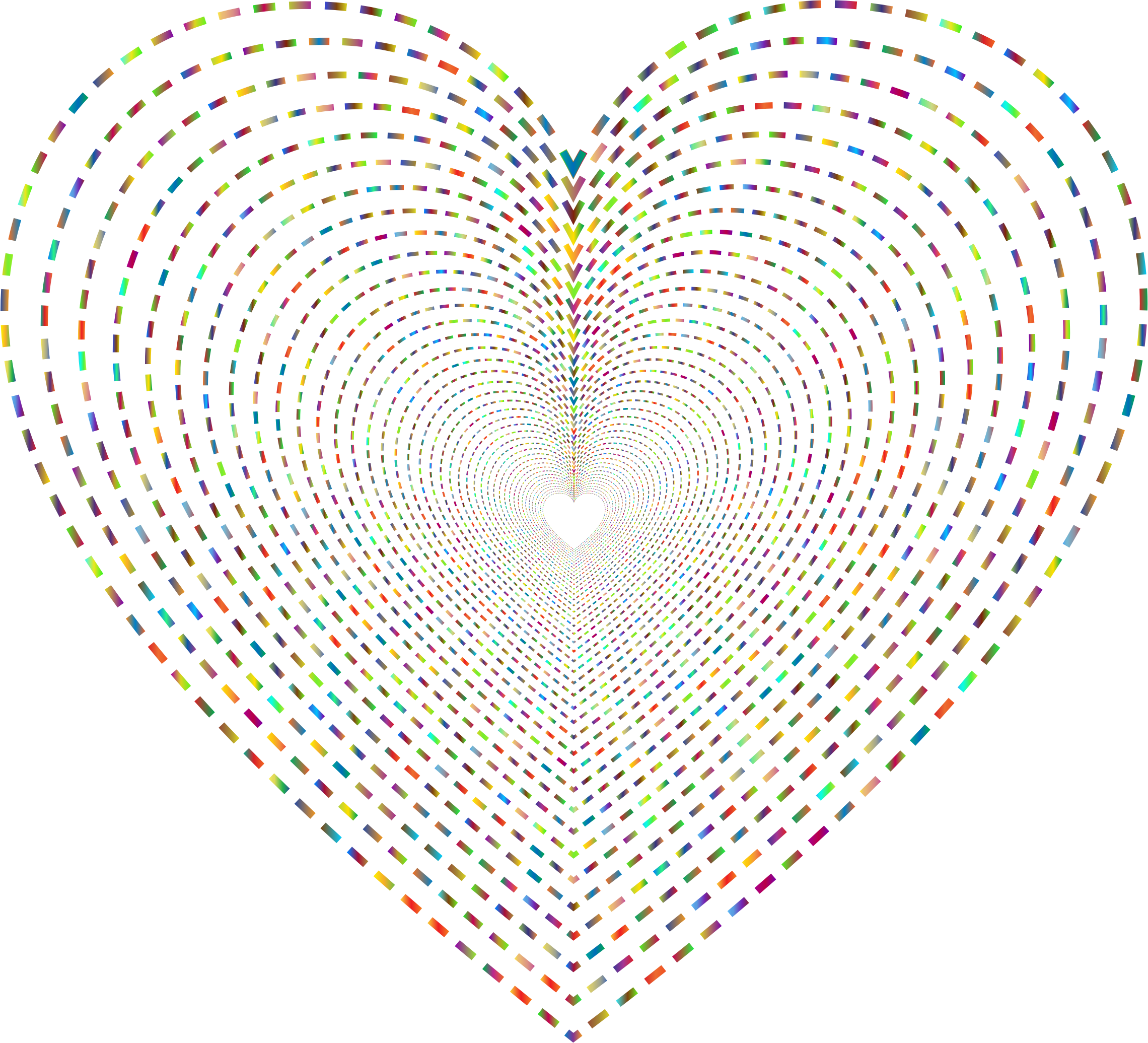 Dashed Line Art Heart Tunnel 2 No Background by GDJ