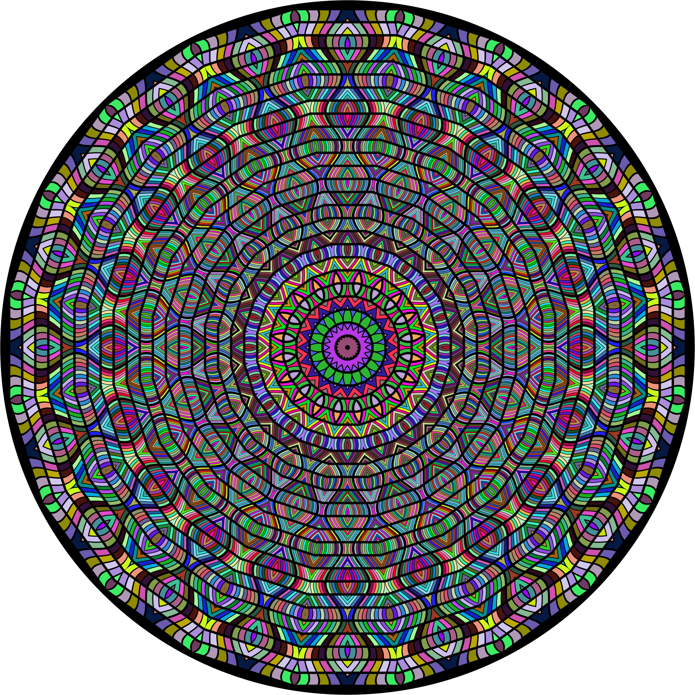 Prismatic Glorious Mandala by GDJ