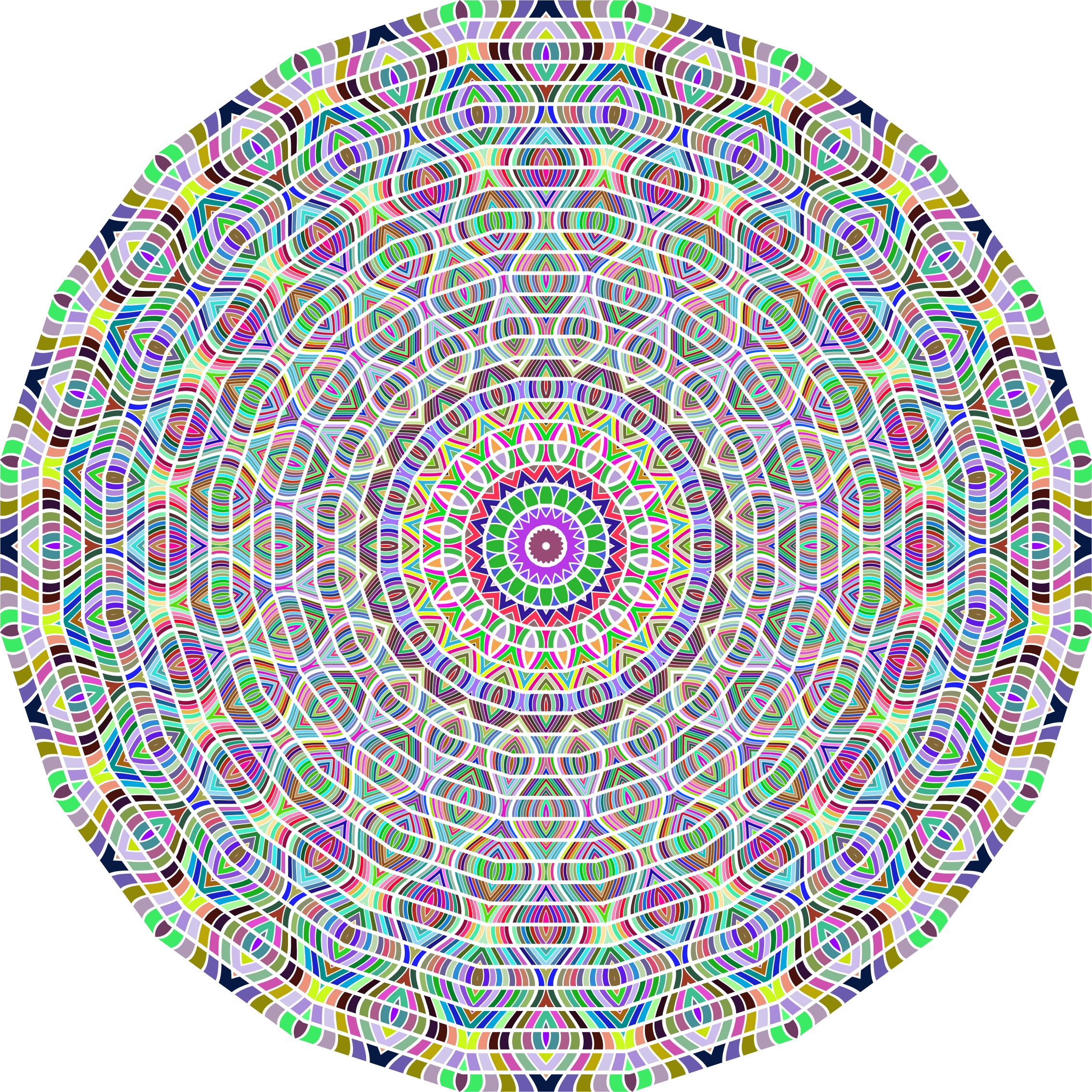 Prismatic Glorious Mandala No Background by GDJ
