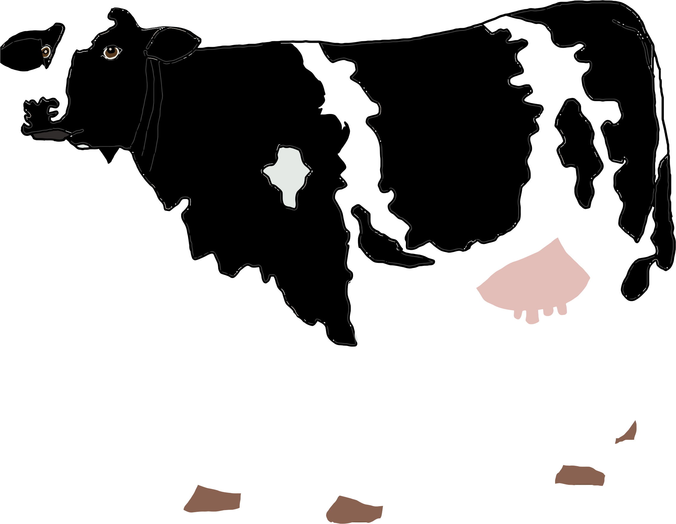 Realistic Cow Illustration by GDJ