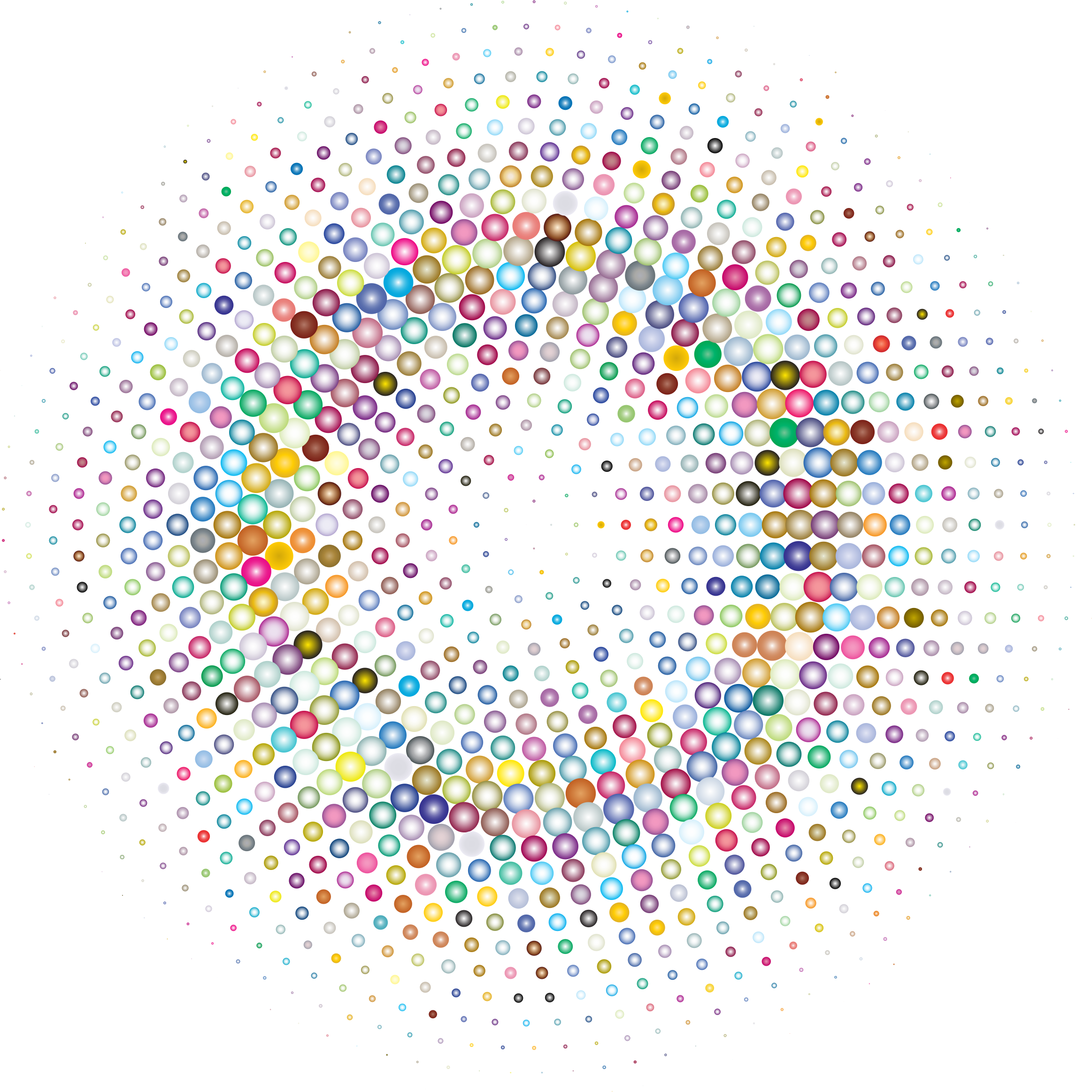 Prismatic Halftone Circle 2 by GDJ