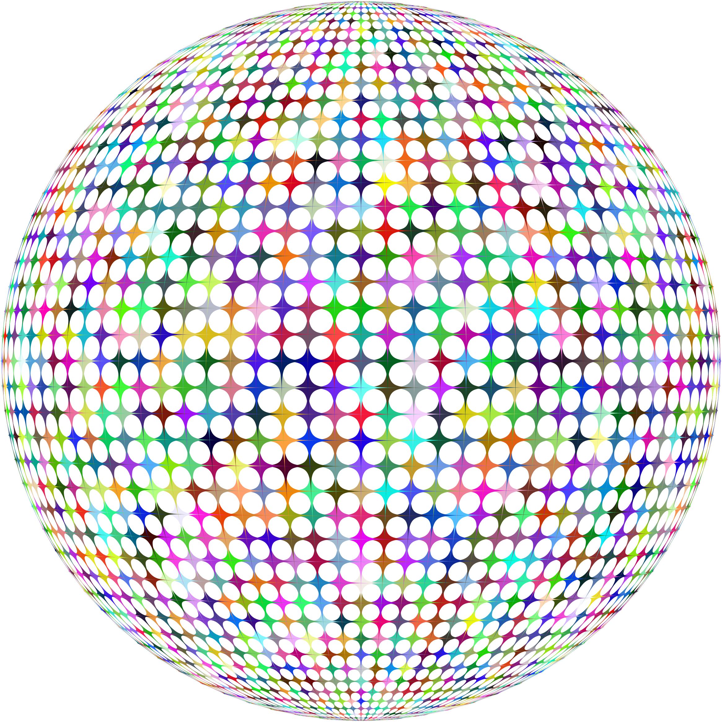 Prismatic Abstract Sphere by GDJ