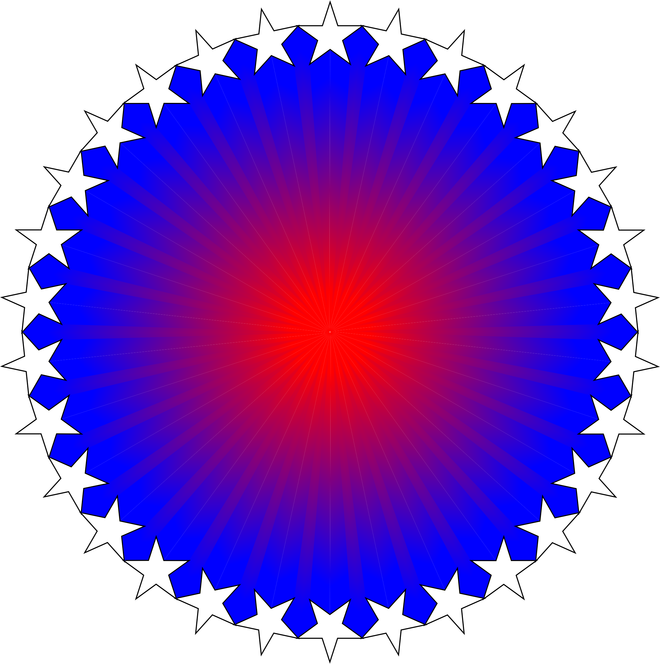 Red White Blue Starburst by GDJ