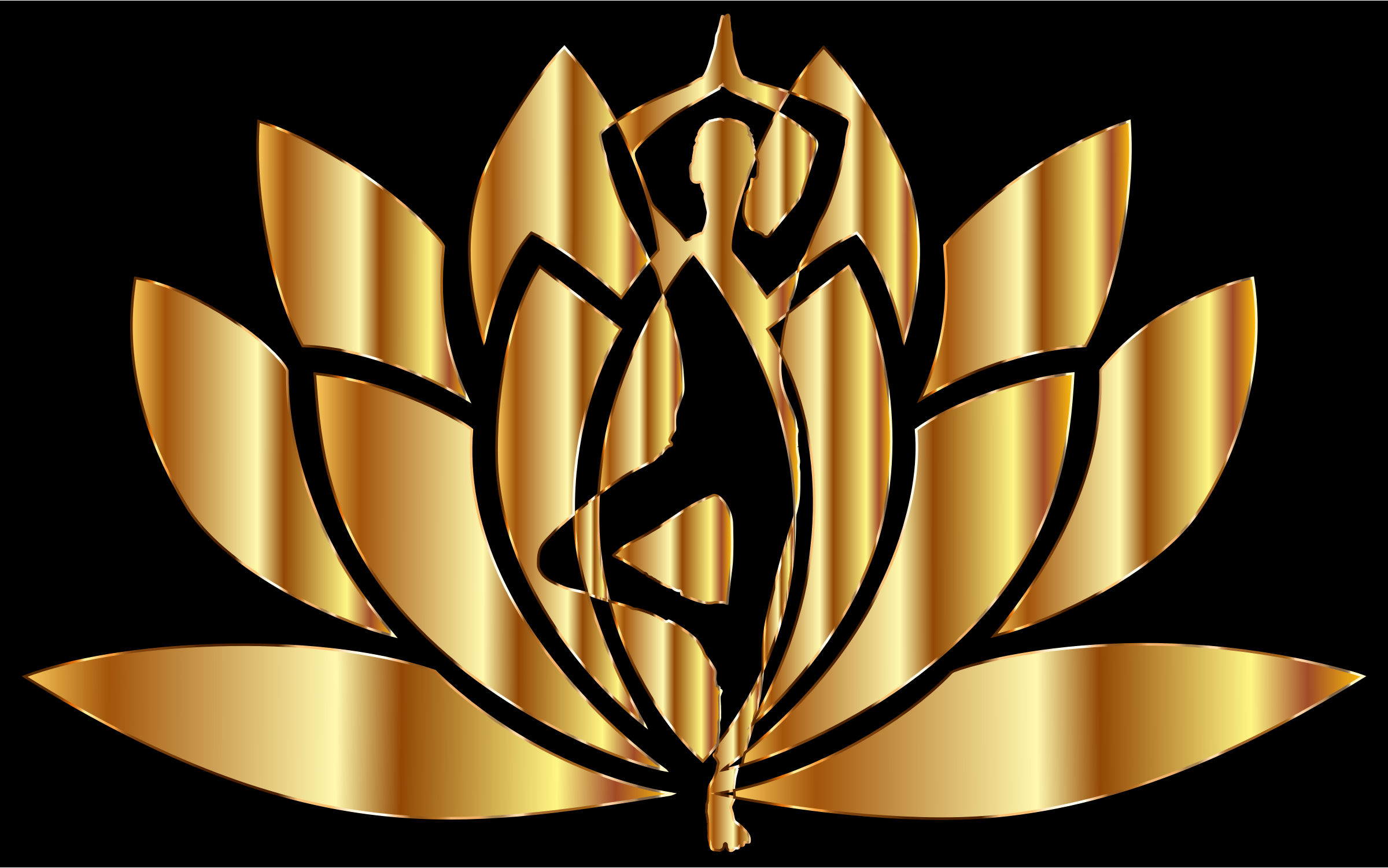 Gold Yoga Lotus by GDJ