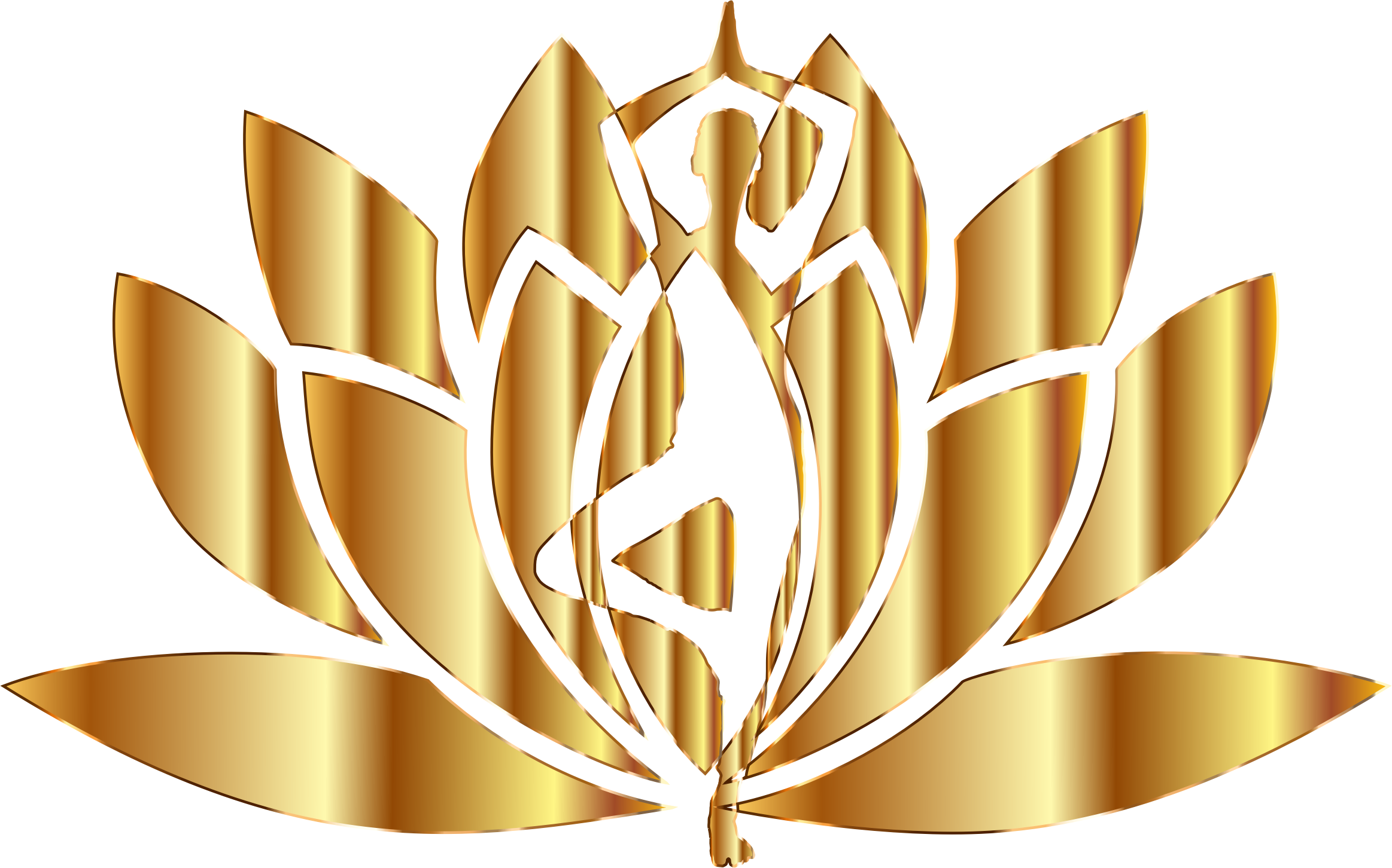 Gold Yoga Lotus No Background by GDJ