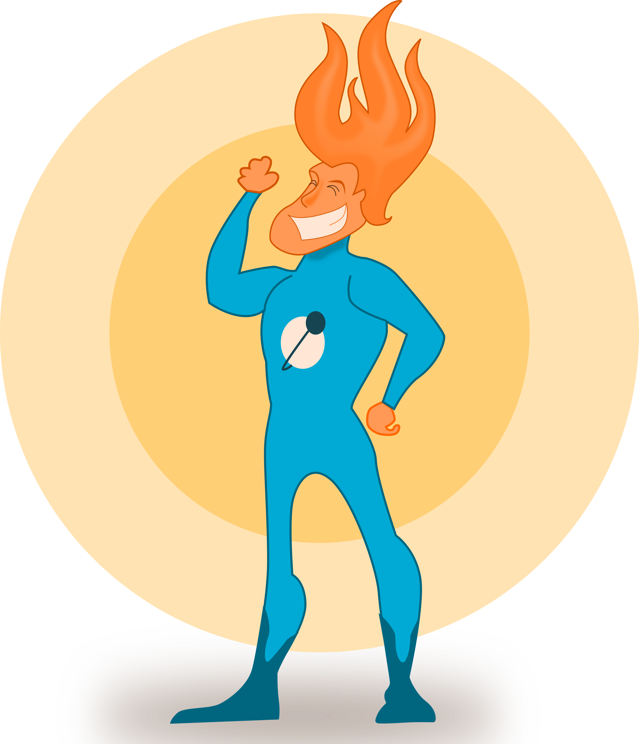 Super Hero - Flame by kablam