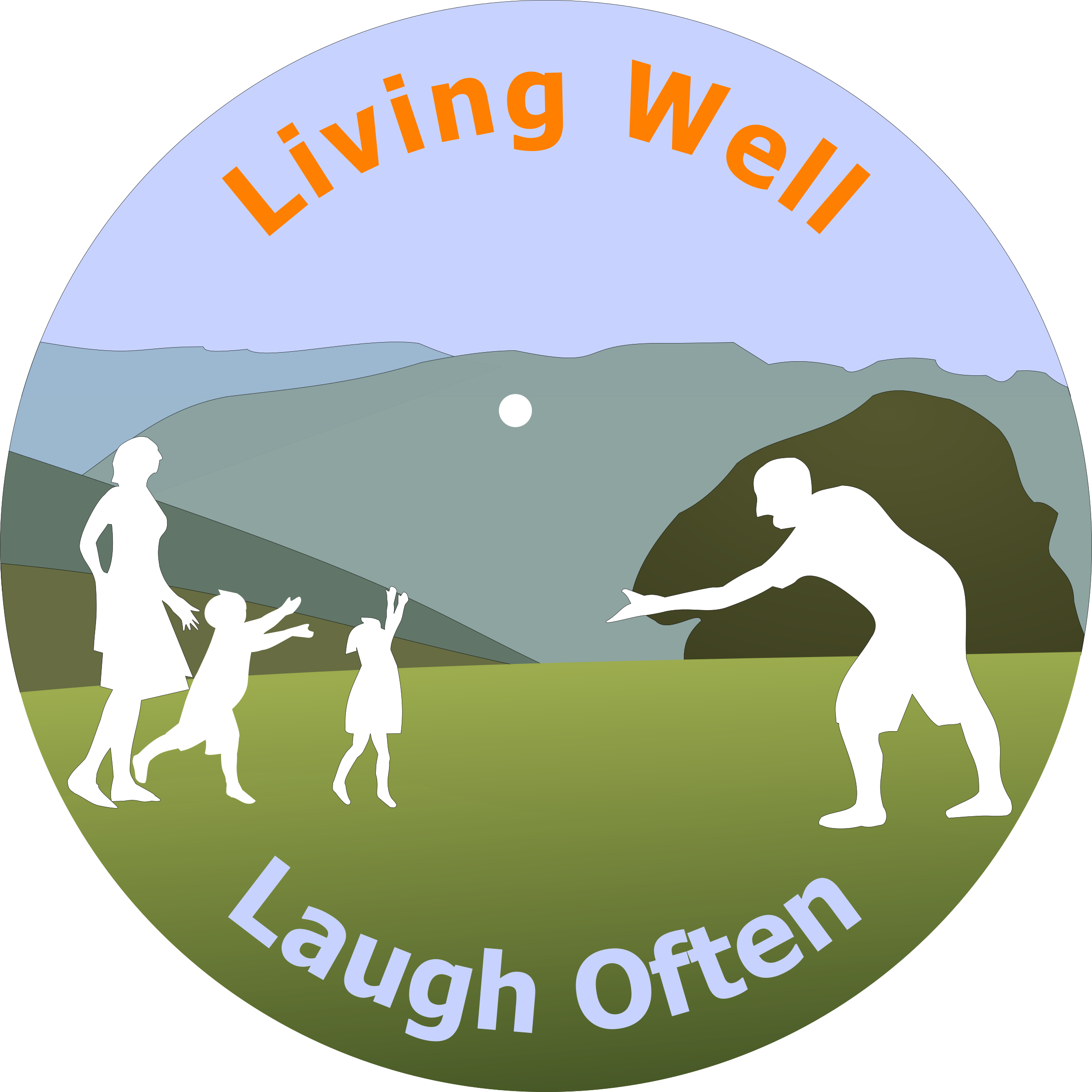 Living Well Laugh Often Logo 4 by pjsvbfcm