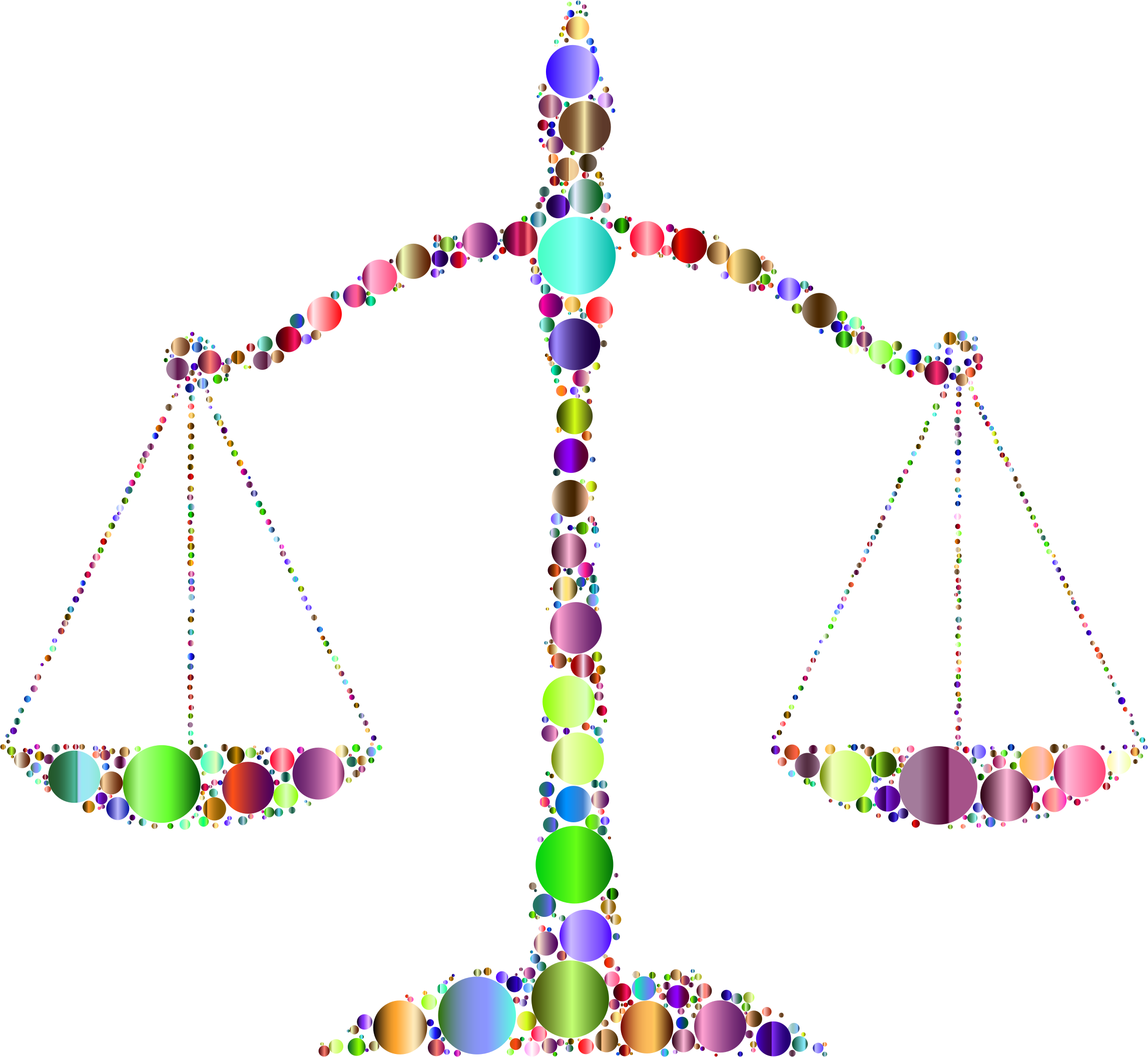 Prismatic Justice Scales Circles 3 by GDJ