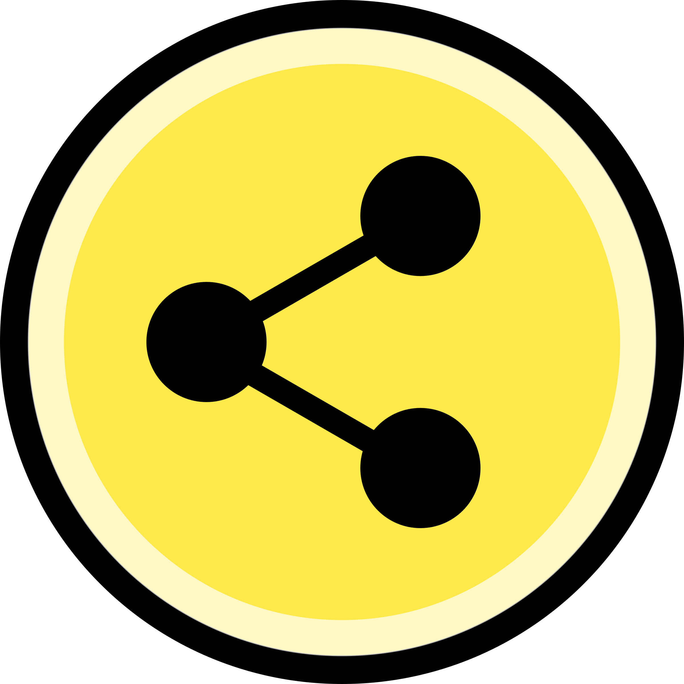 Button - Share (Yellow) by Technaturally