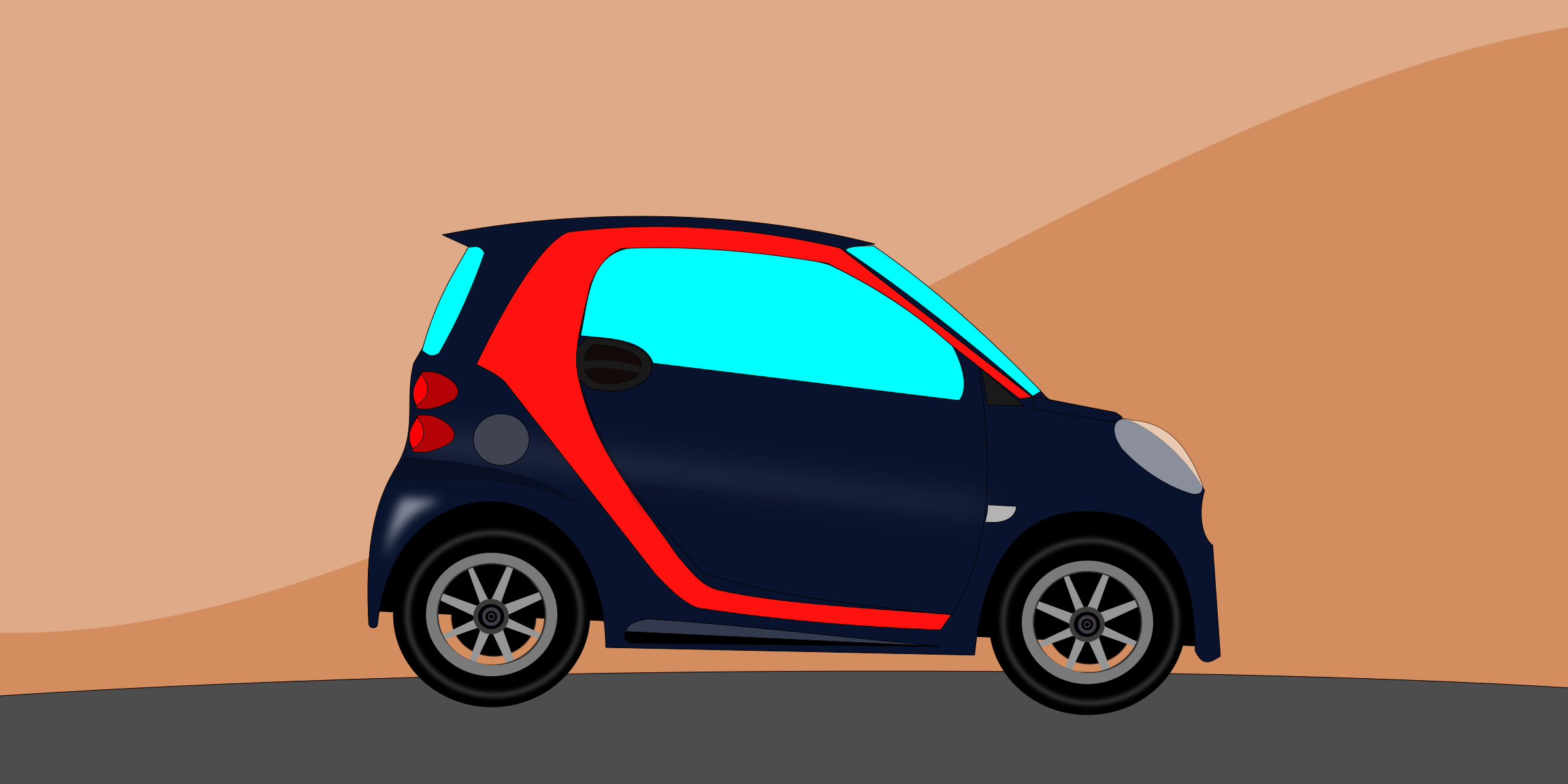 Animation of a mini car by aukipa