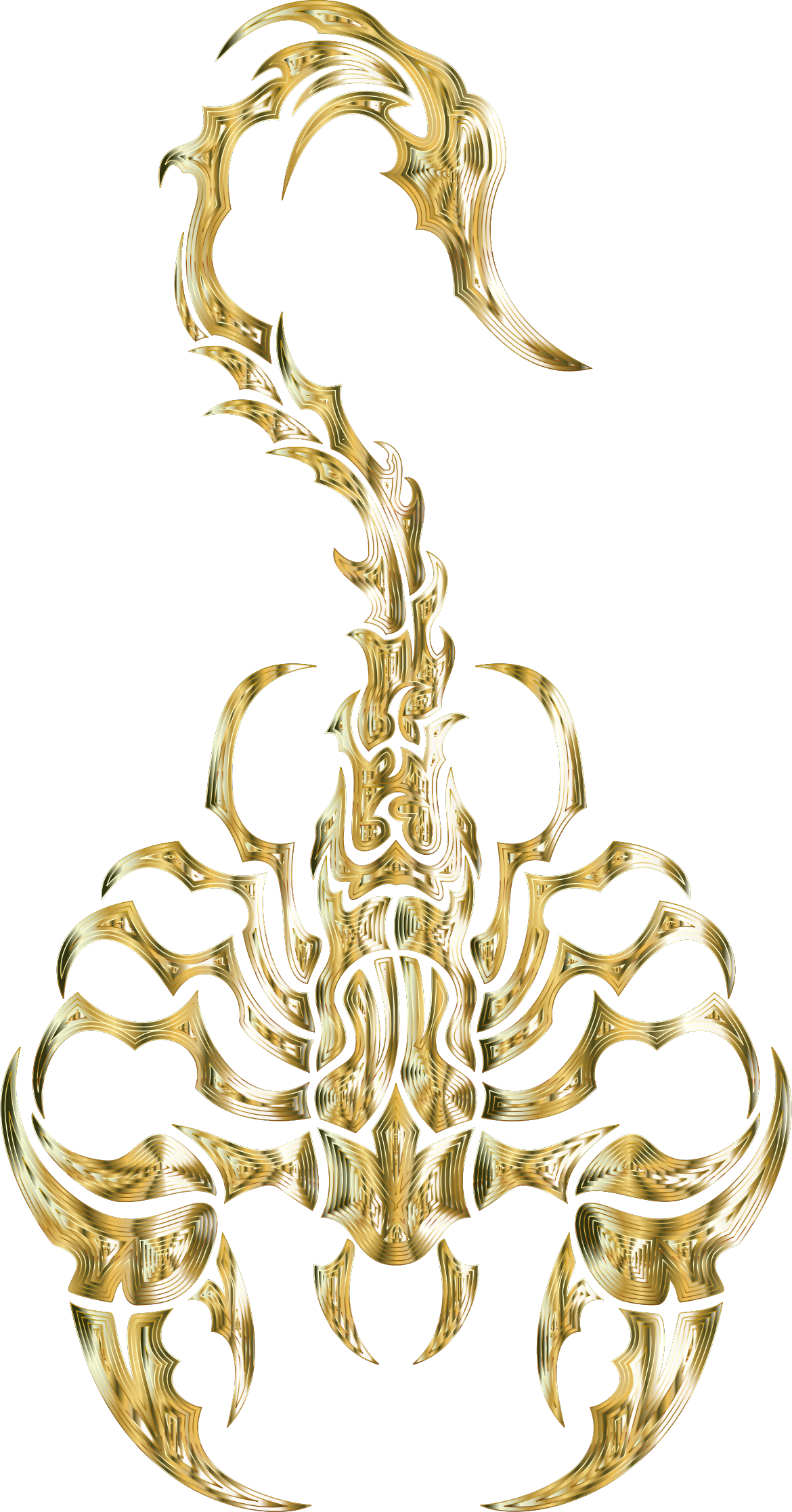 Sleek Tribal Scorpion Gold 2 by GDJ