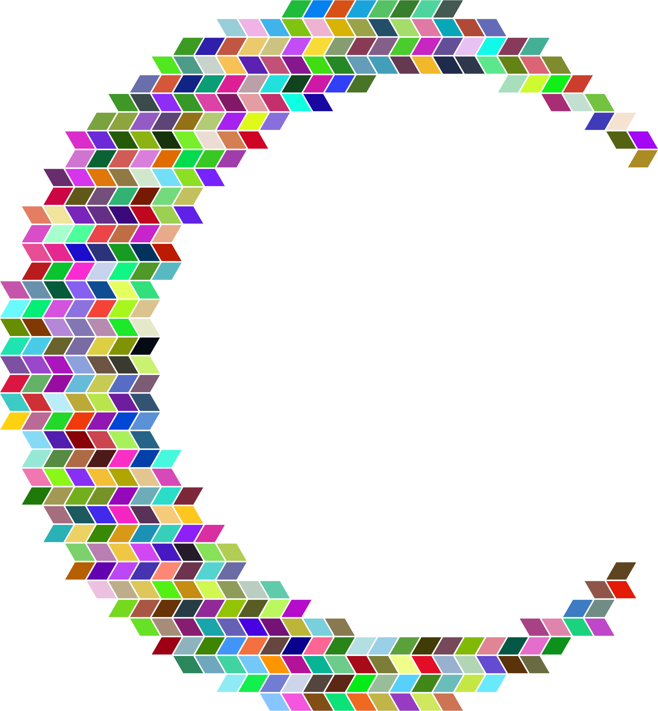 Prismatic Crescent Rhomboidal Mosaic by GDJ