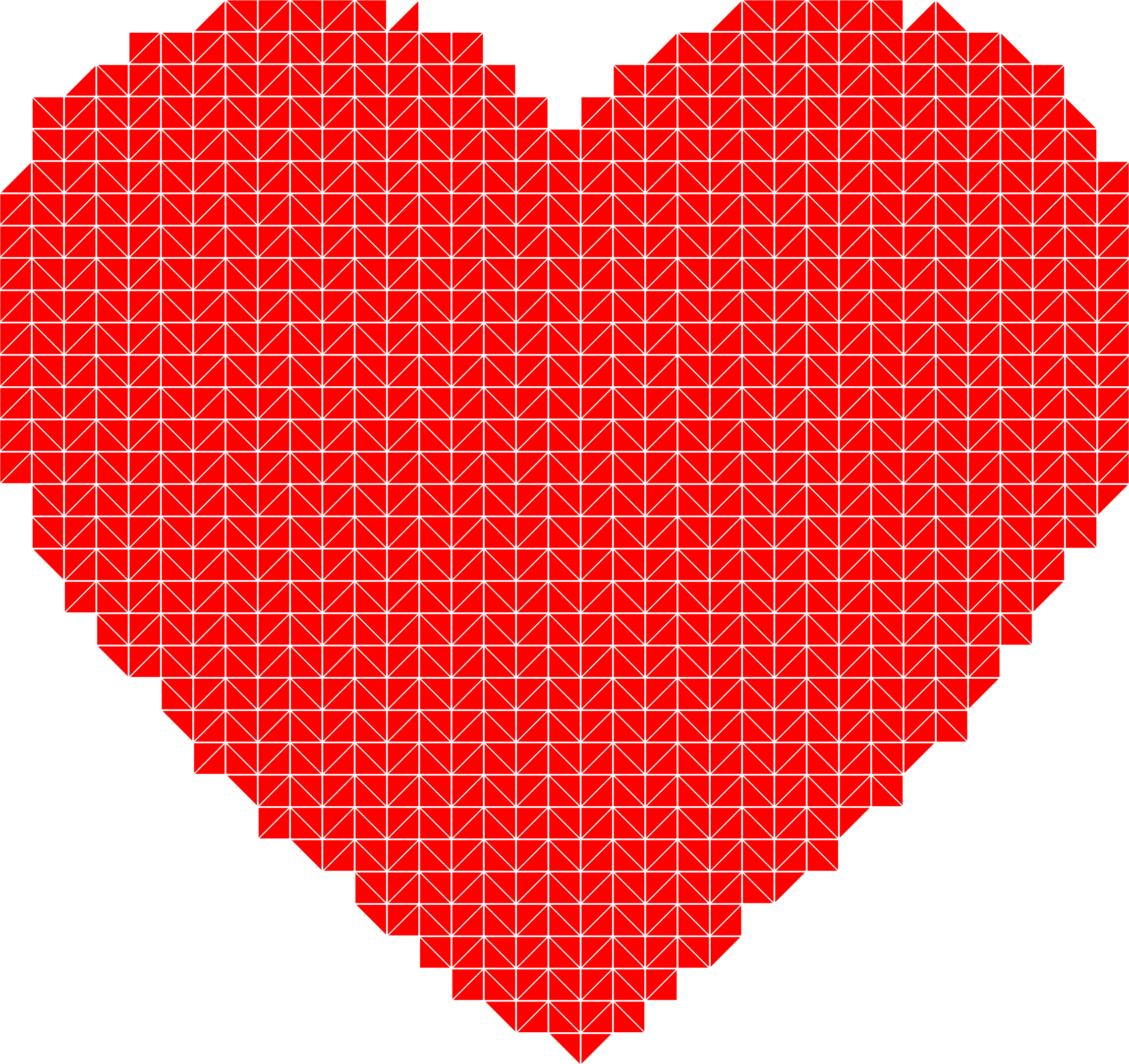 Heart Triangular Mosaic by GDJ