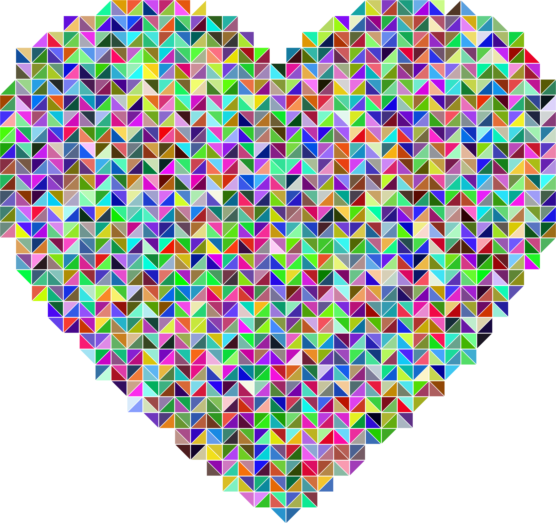 Prismatic Heart Triangular Mosaic by GDJ