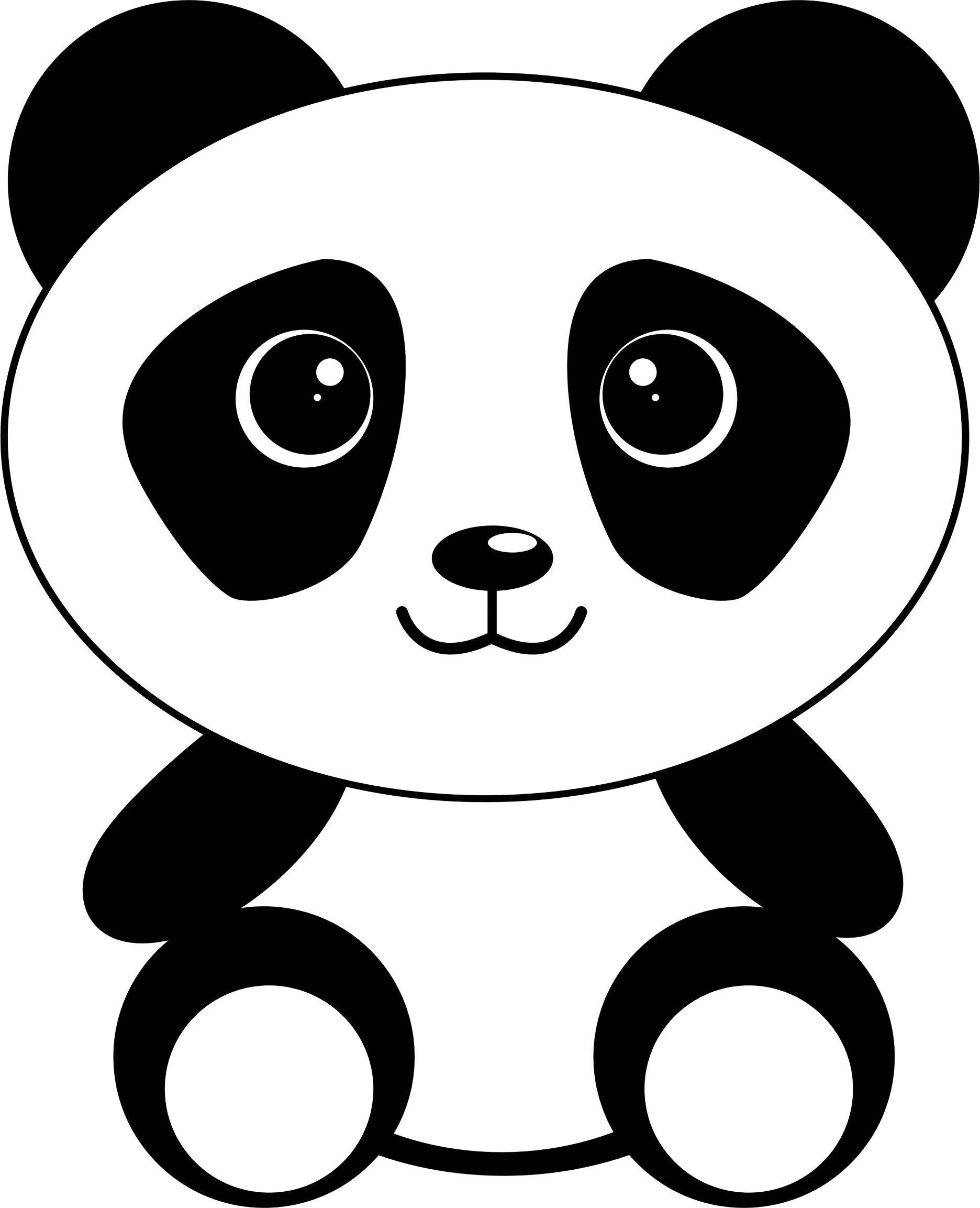 clipart cute cartoon panda rh openclipart org cute baby panda cartoon pictures Cute Cartoon Pandas with Mustaches