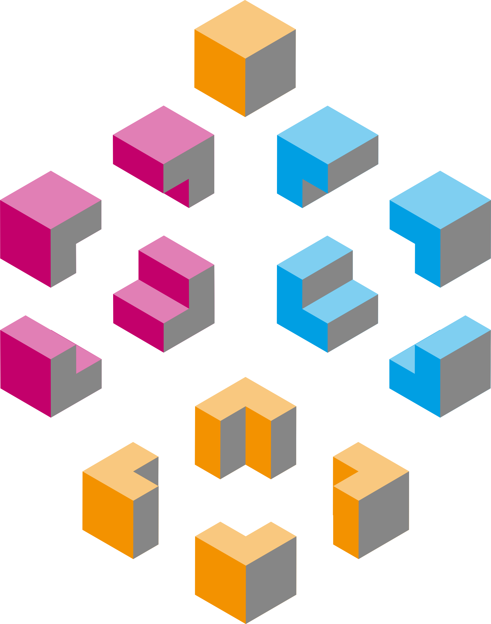 Isometric shapes 1 - cubes by gramzon