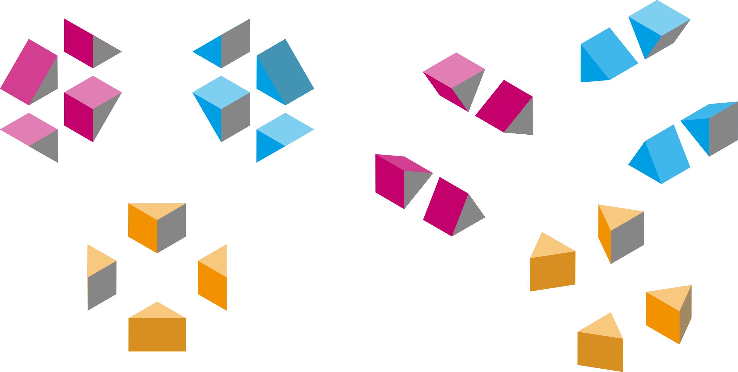 Isometric shapes 2 - triangles by gramzon