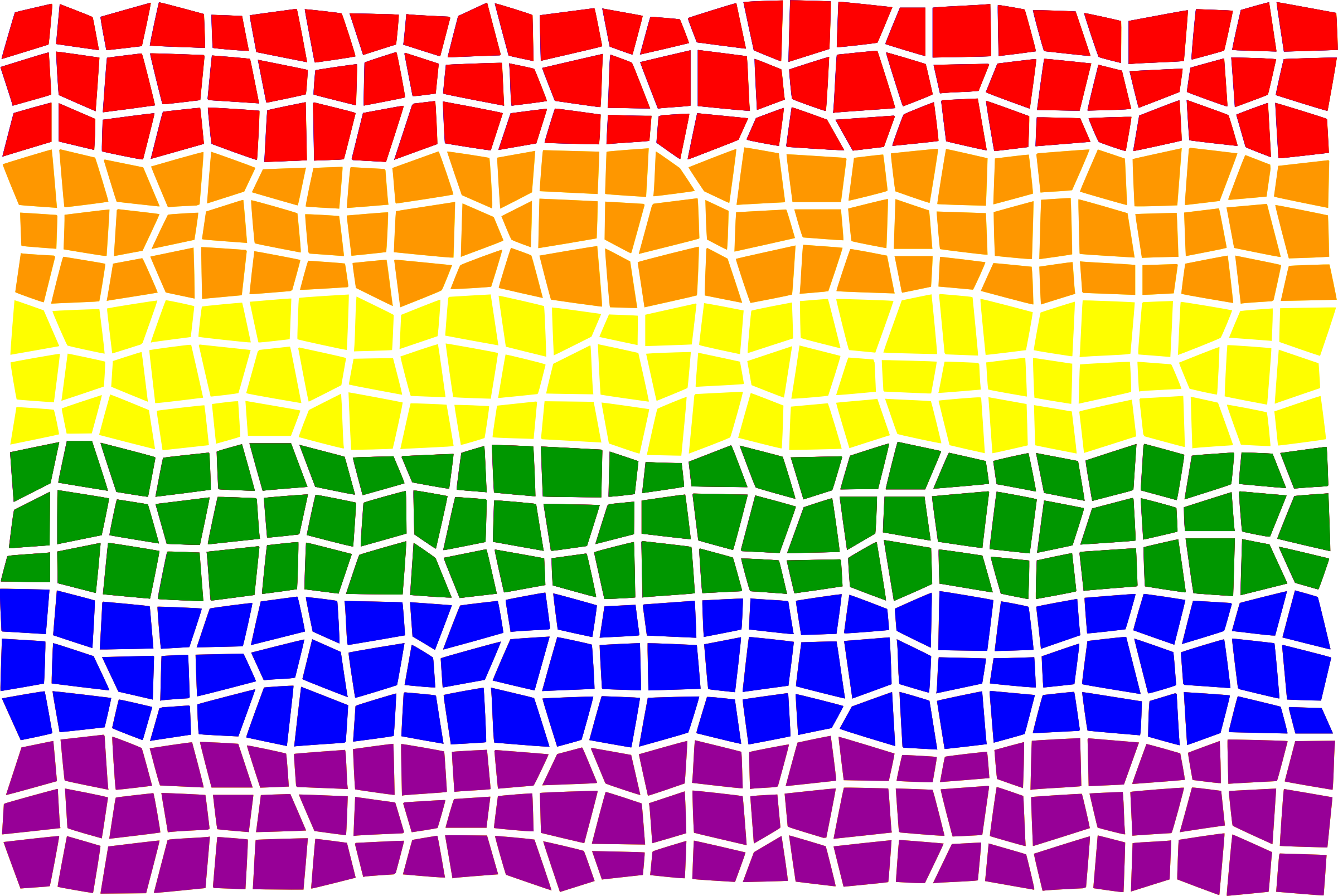 Rainbow flag mosaic by Firkin