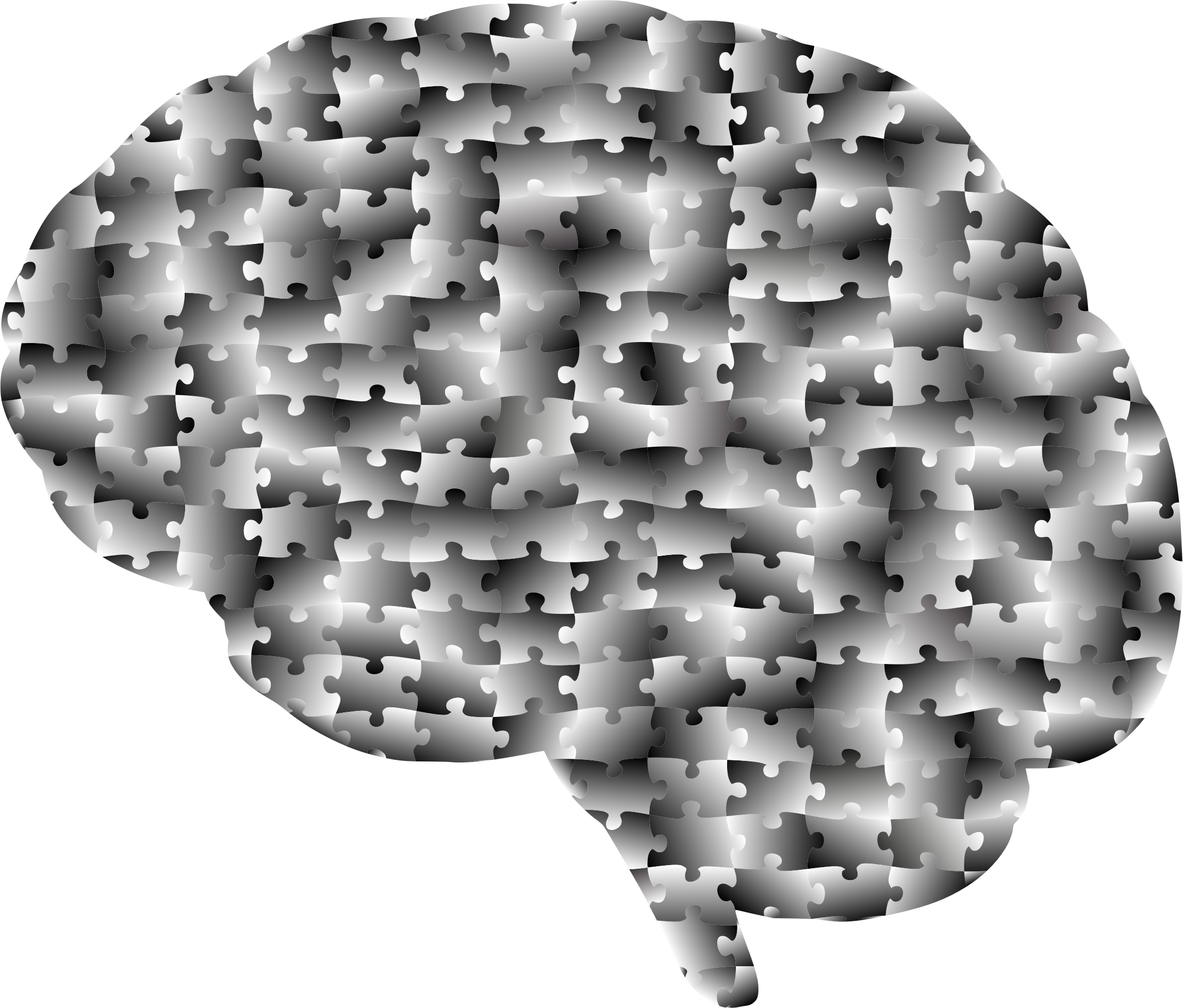 Brain Jigsaw Puzzle Grayscale by GDJ